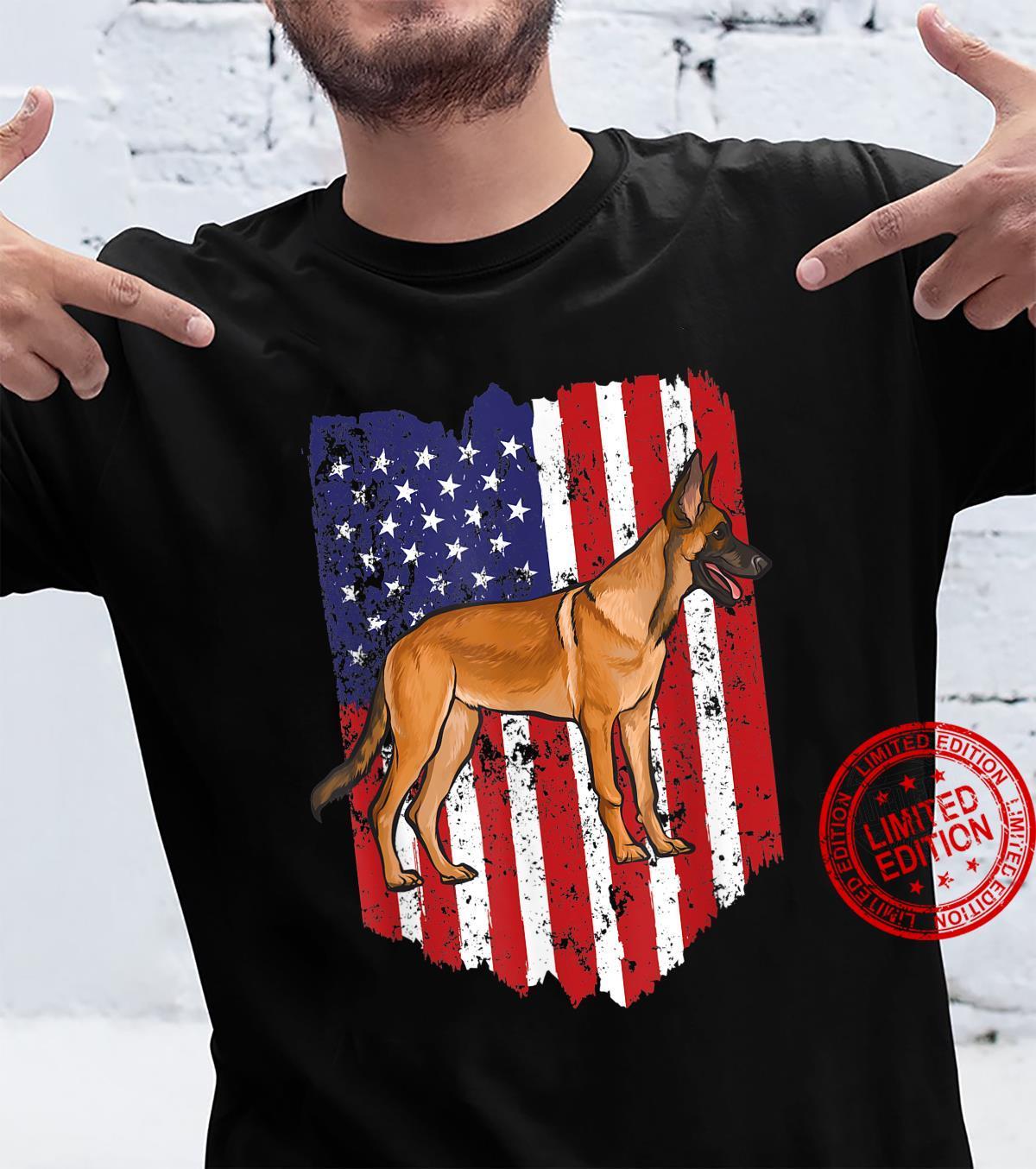 American Flag Belgian Malinoi 4th Of July USA Shirt