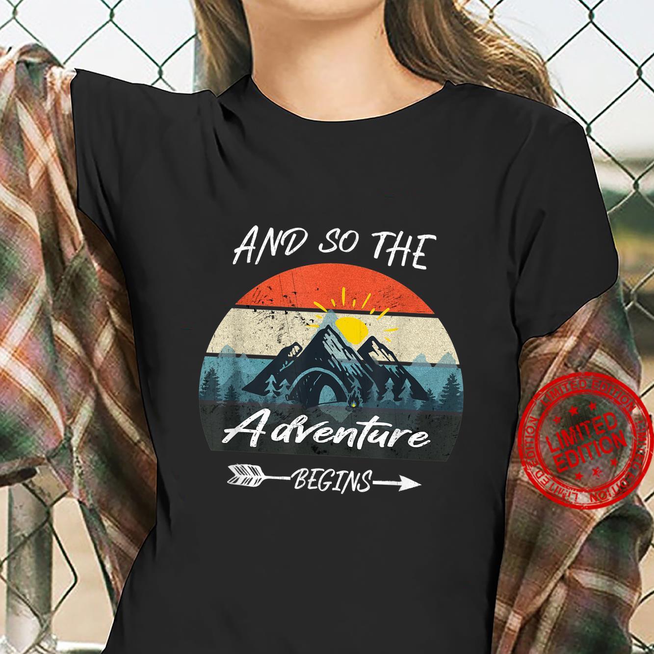 And So The Adventure Begins Retro Vintage Shirt ladies tee
