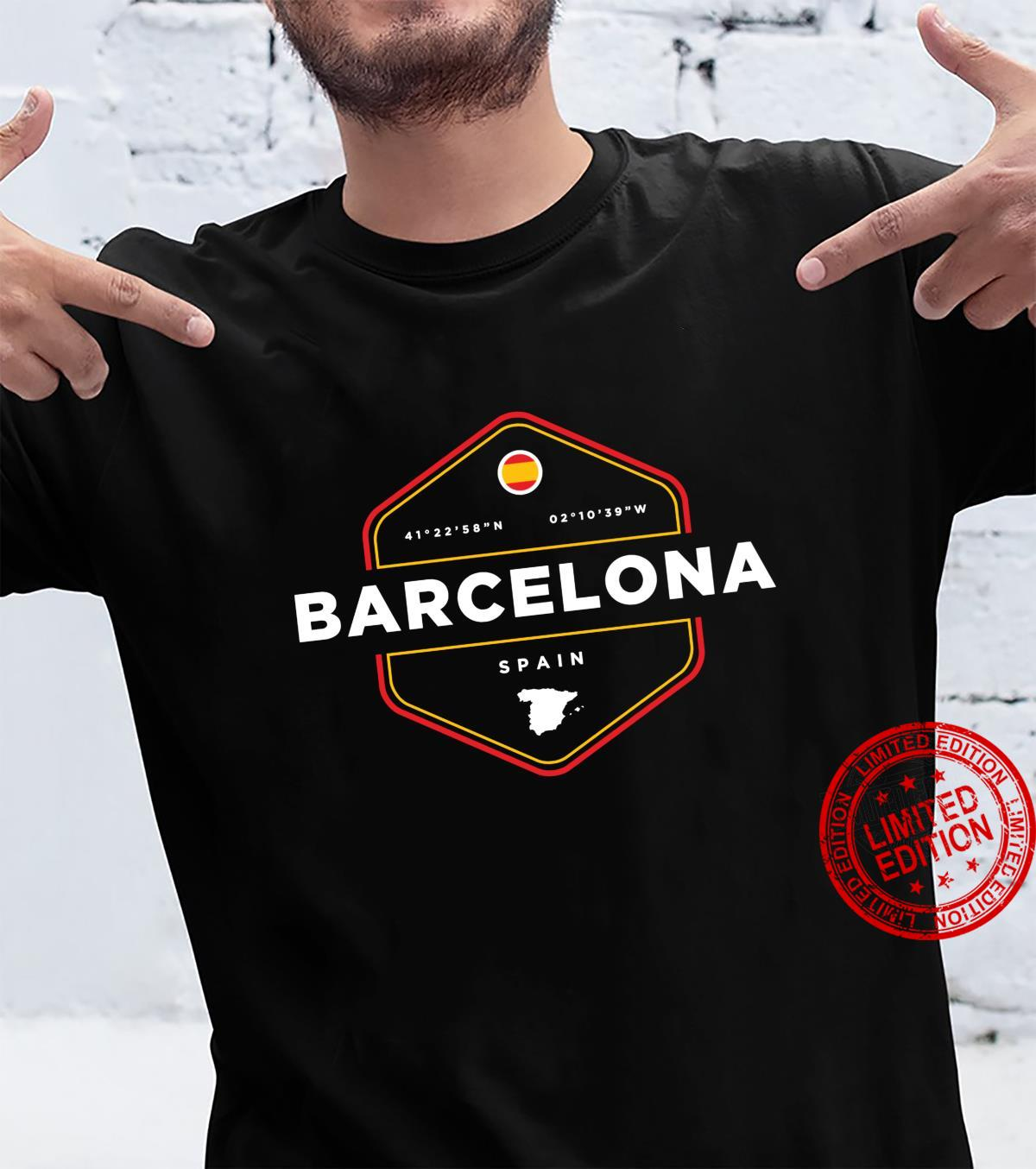 Barcelona Spain Map Flag Shirt