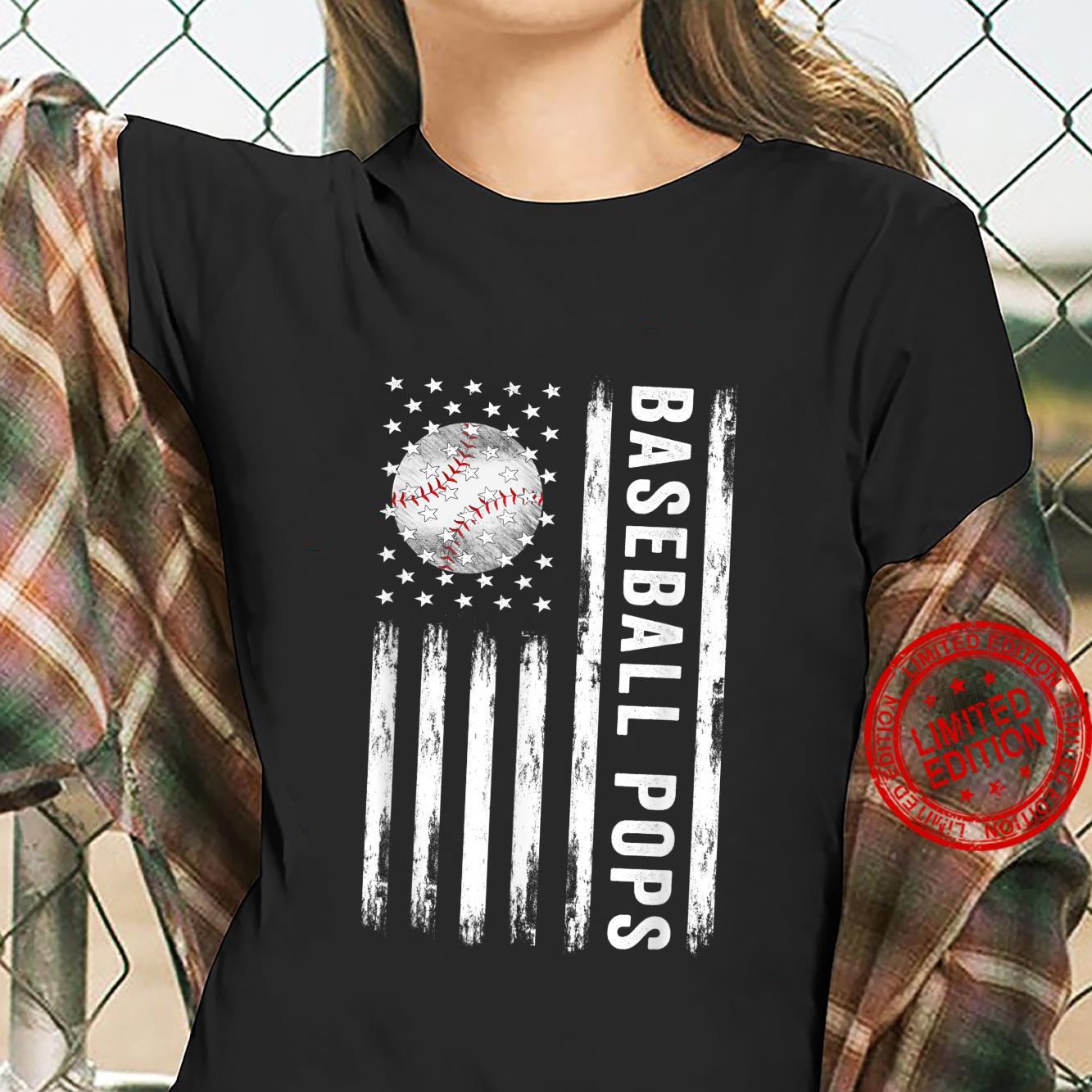Baseball Pops American Best Baseball Pops Father's Day Shirt ladies tee