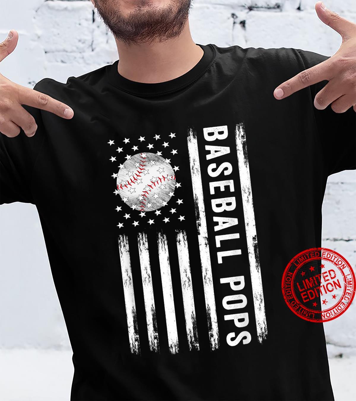 Baseball Pops American Best Baseball Pops Father's Day Shirt