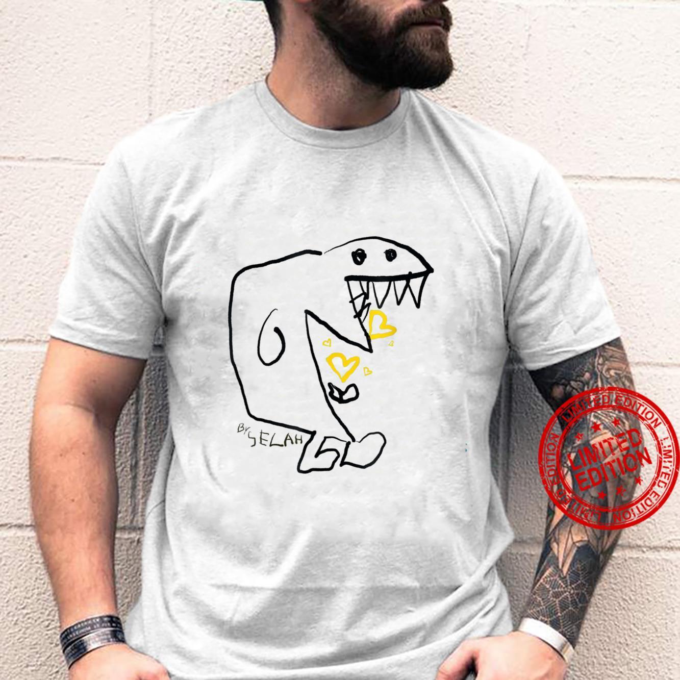 Dinosaur Eating Hearts By Selah Shirt