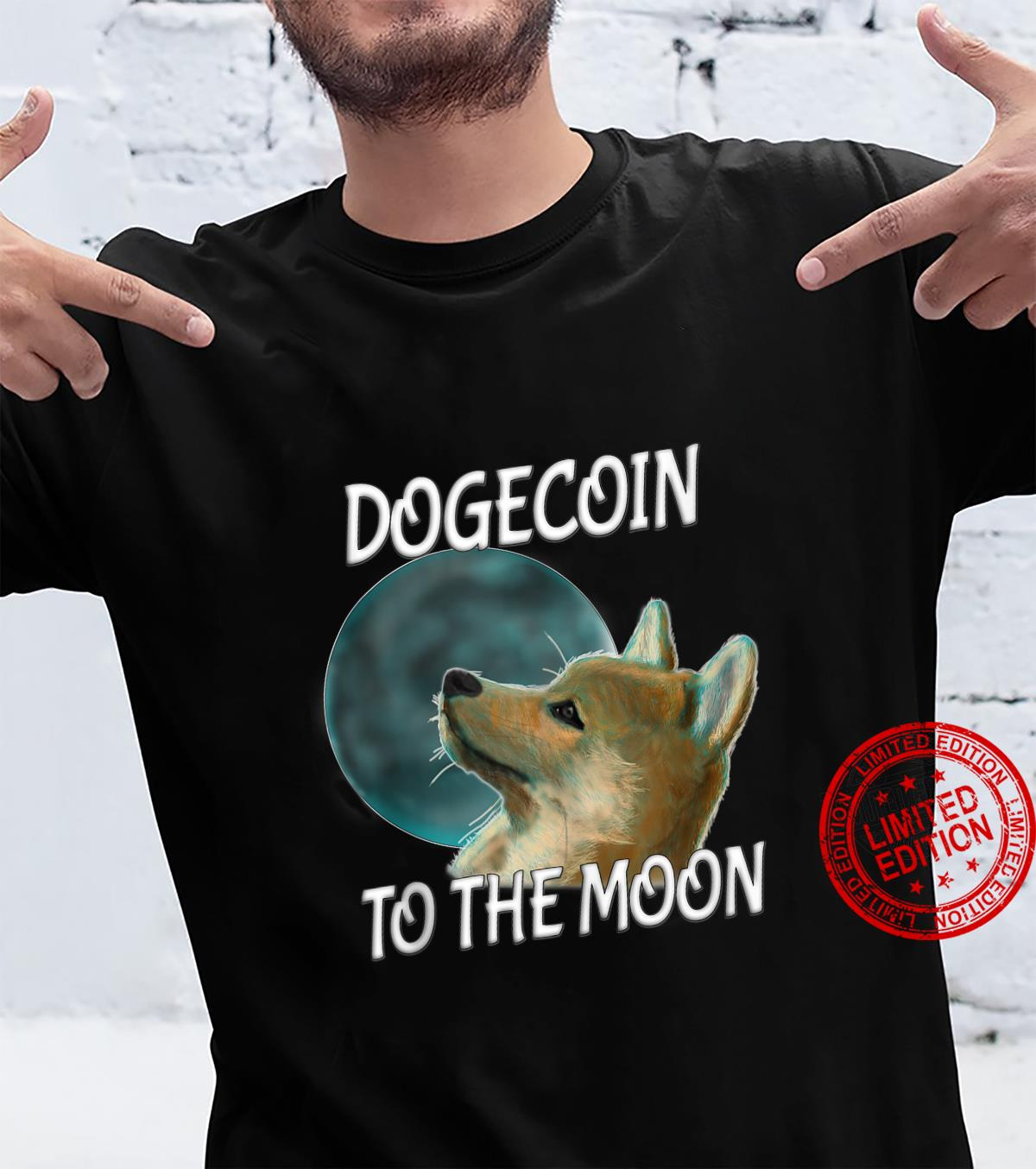 Dogecoin Back Rising To The Moon Shirt
