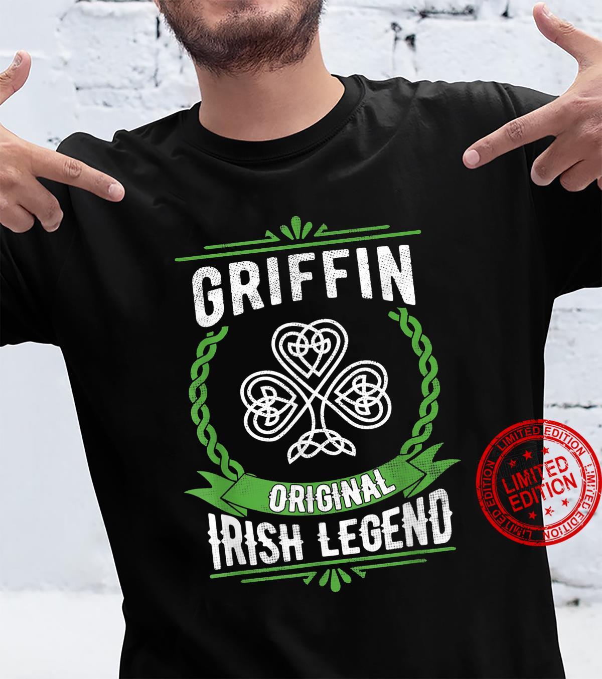 Griffin Name Irish Legend Shamrock Green St. Patrick's Day Shirt