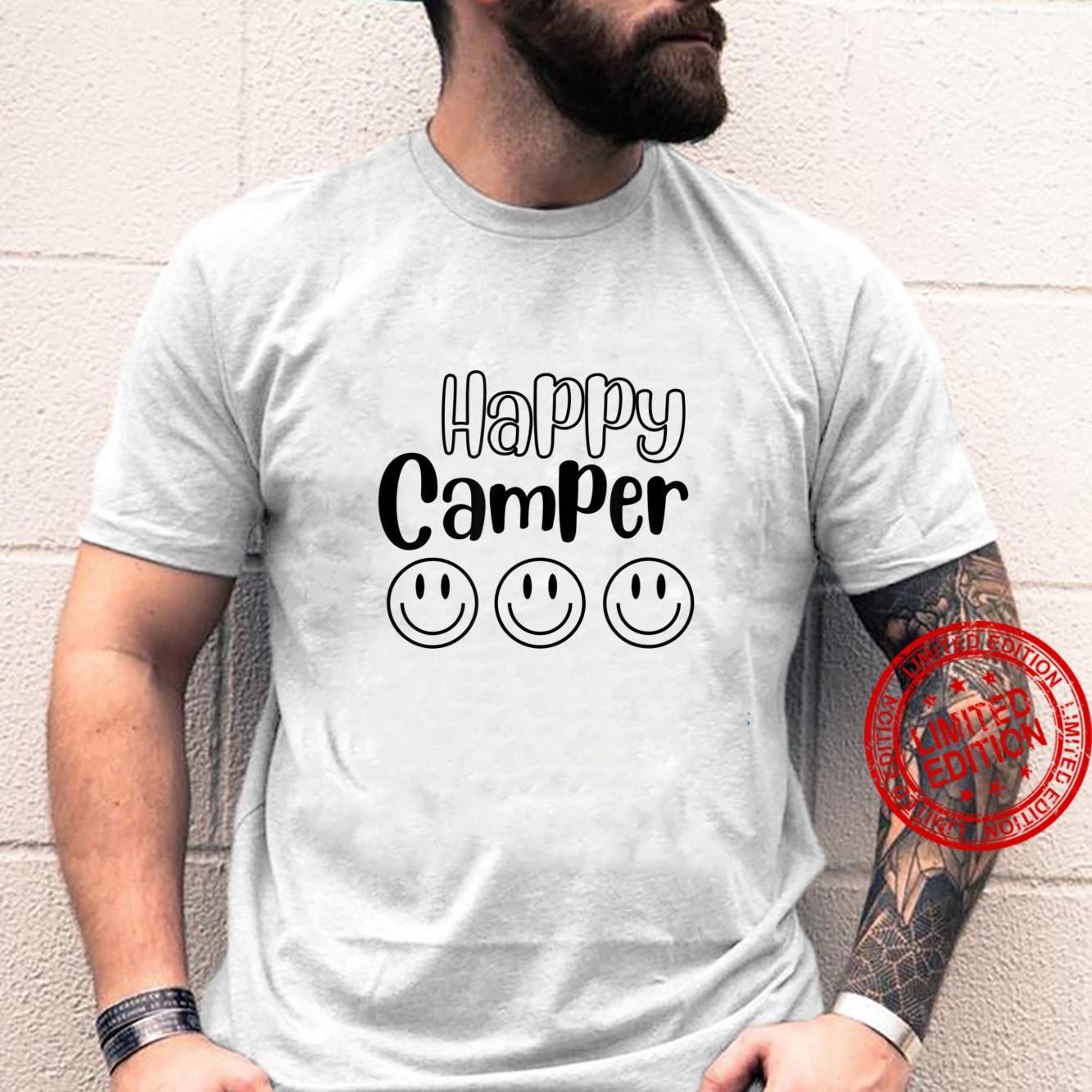Happy Camper Smile Face Shirt