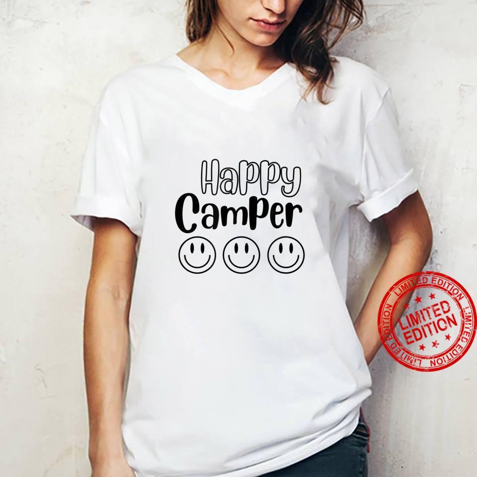 Happy Camper Smile Face Shirt ladies tee