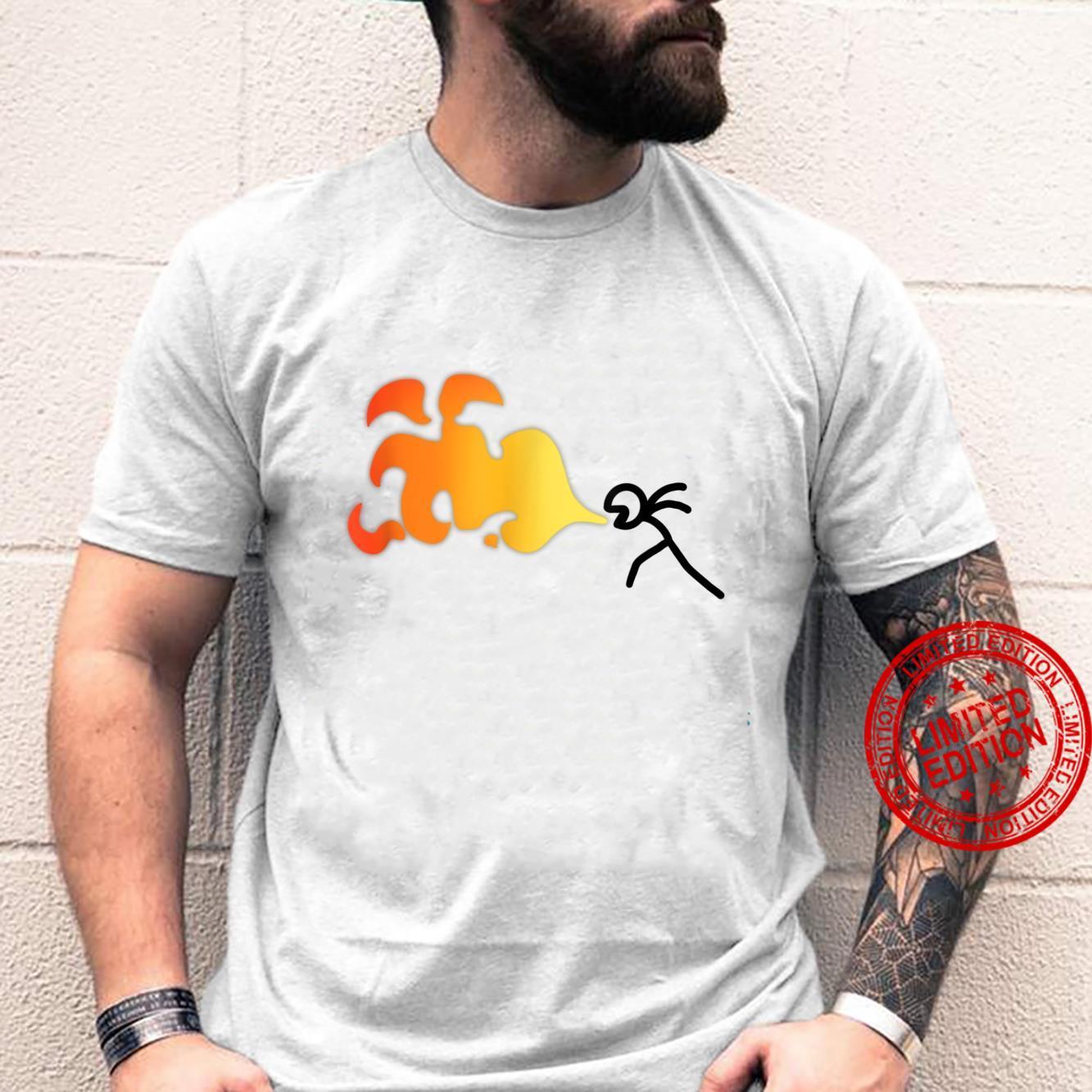 Herren Design Strichmännchen Animation Shirt