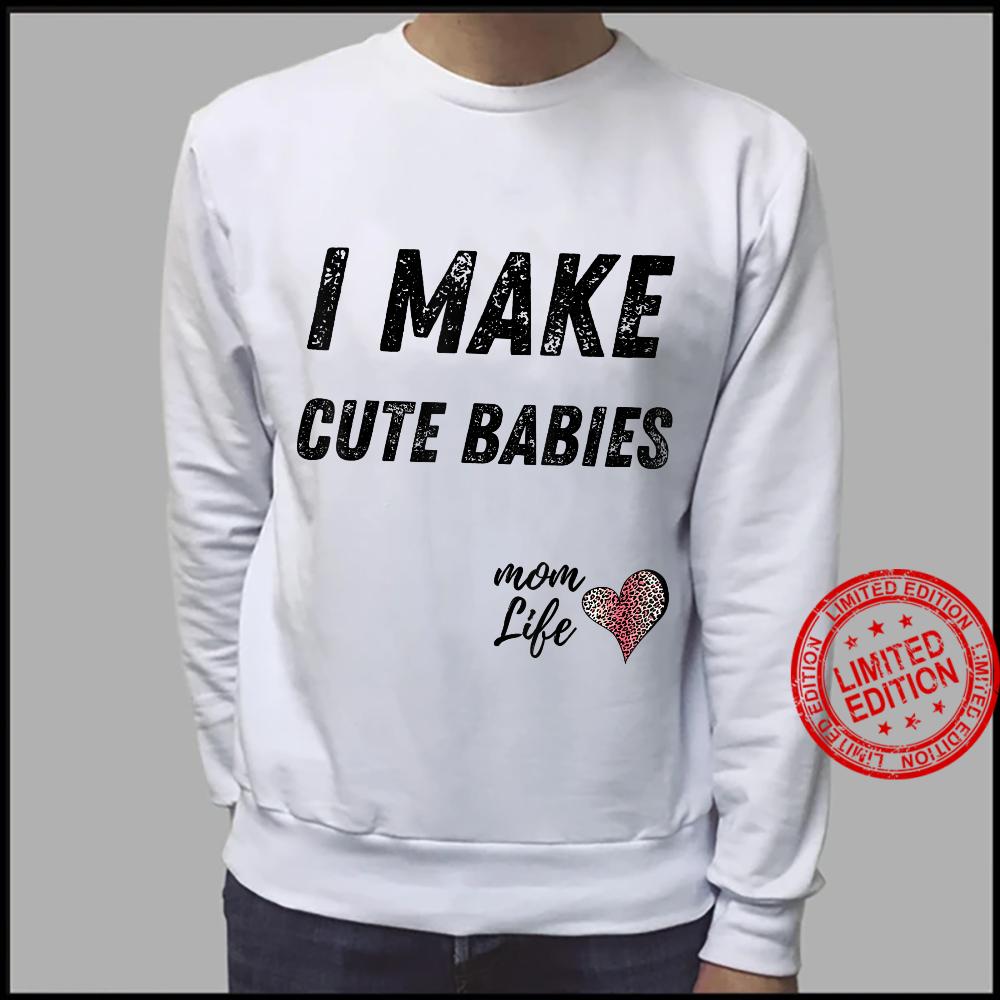 I make cute babies Mom Leopard Print Heart Shirt sweater