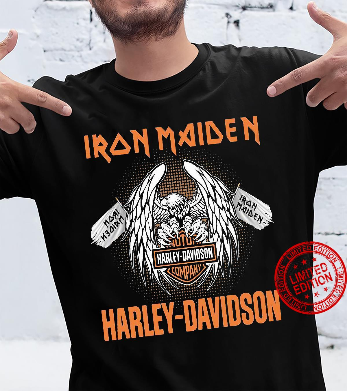 Iron Maiden Harley Davidson Motorcycle Company Shirt