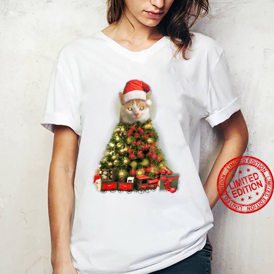 O Baxter Tree, O Baxter Tree Christmas Cat Shirt ladies tee