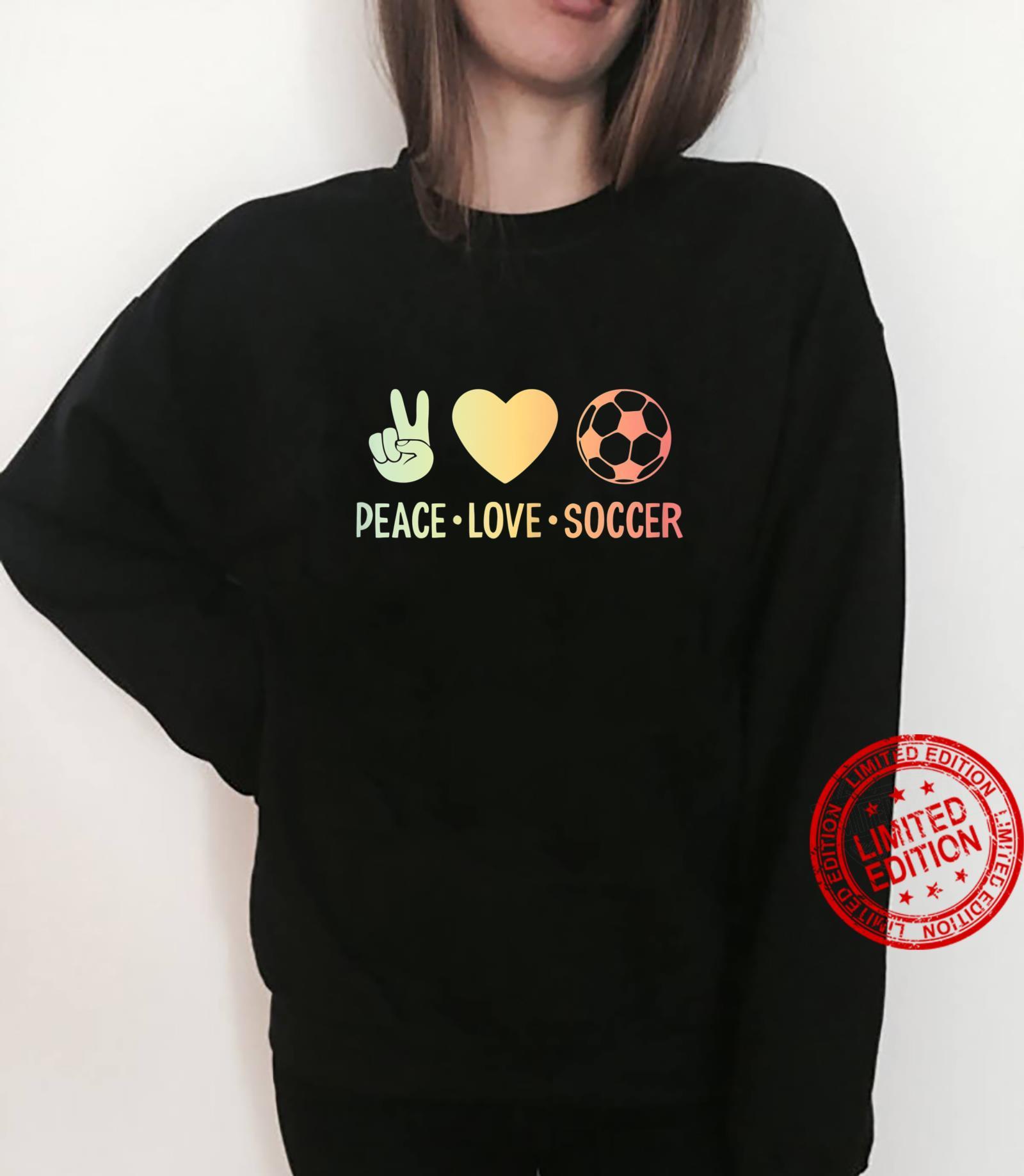 Peace Love Soccer Football Shirt sweater