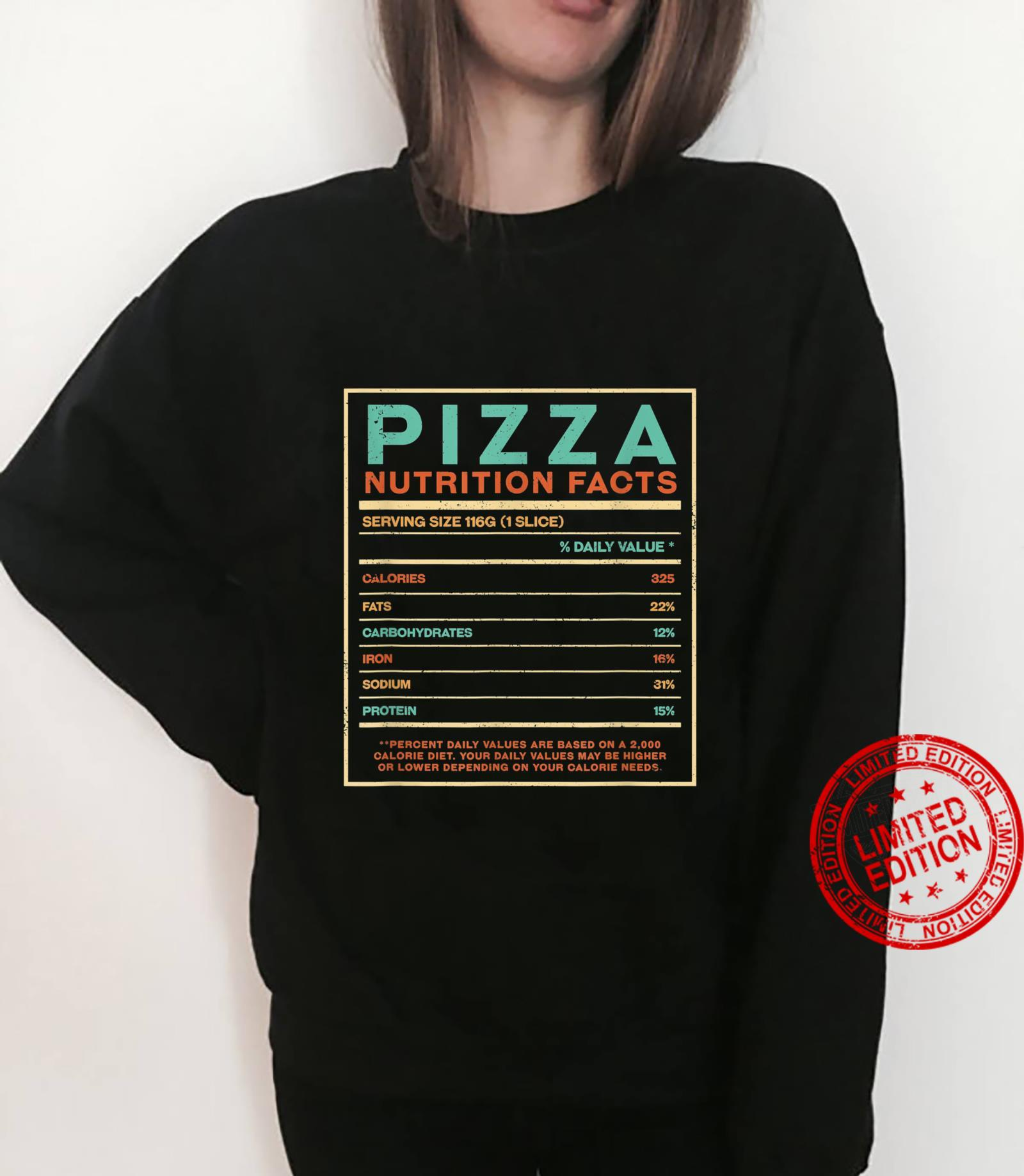 Pizza Nutrition Facts Italian Foodie Italy Food Shirt sweater