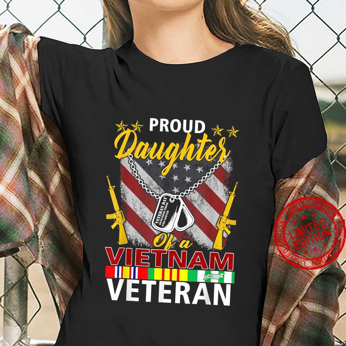 Proud Daughter Of A Vietnam Veteran Shirt Vietnam War Vet Shirt ladies tee