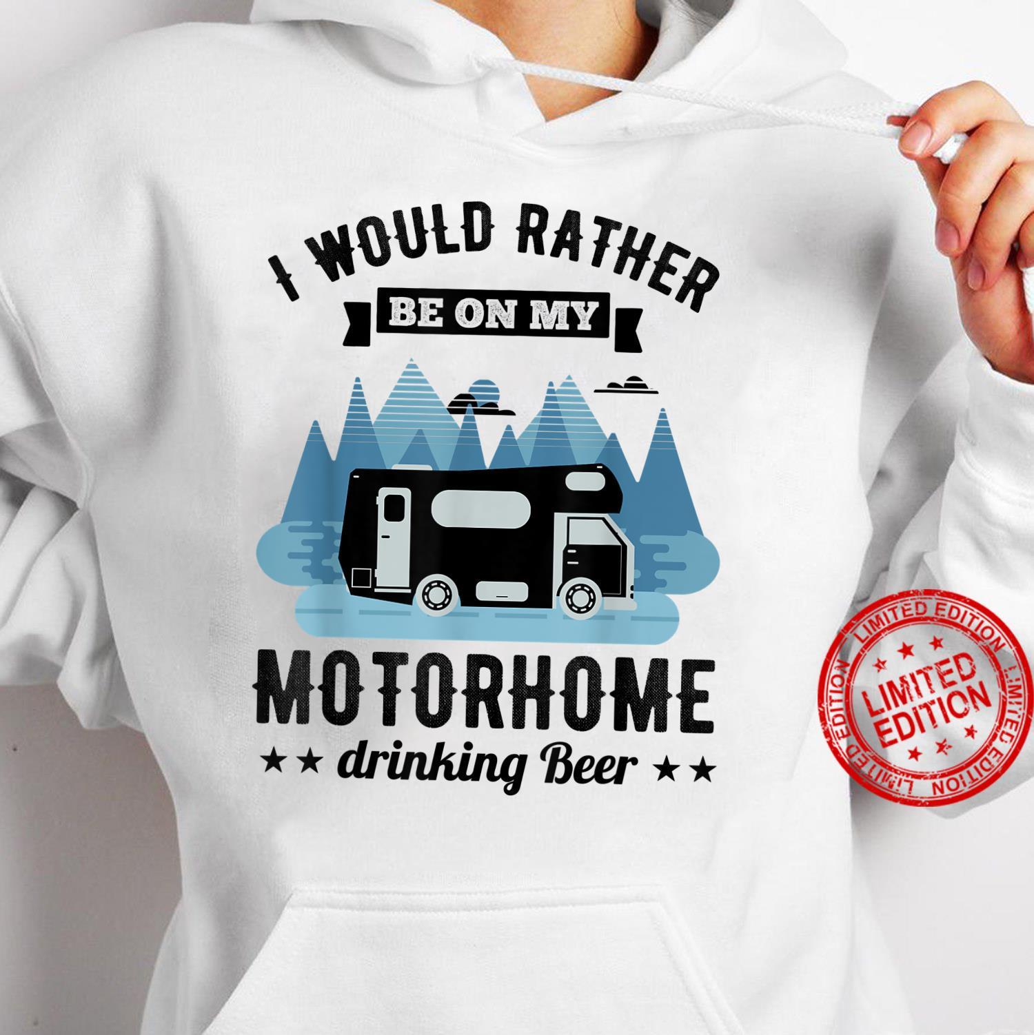 RV Motorhome Beer Husband Shirt hoodie