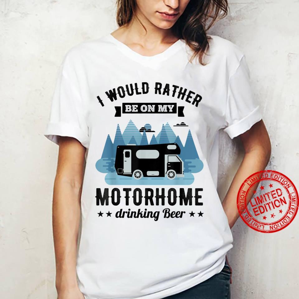 RV Motorhome Beer Husband Shirt ladies tee