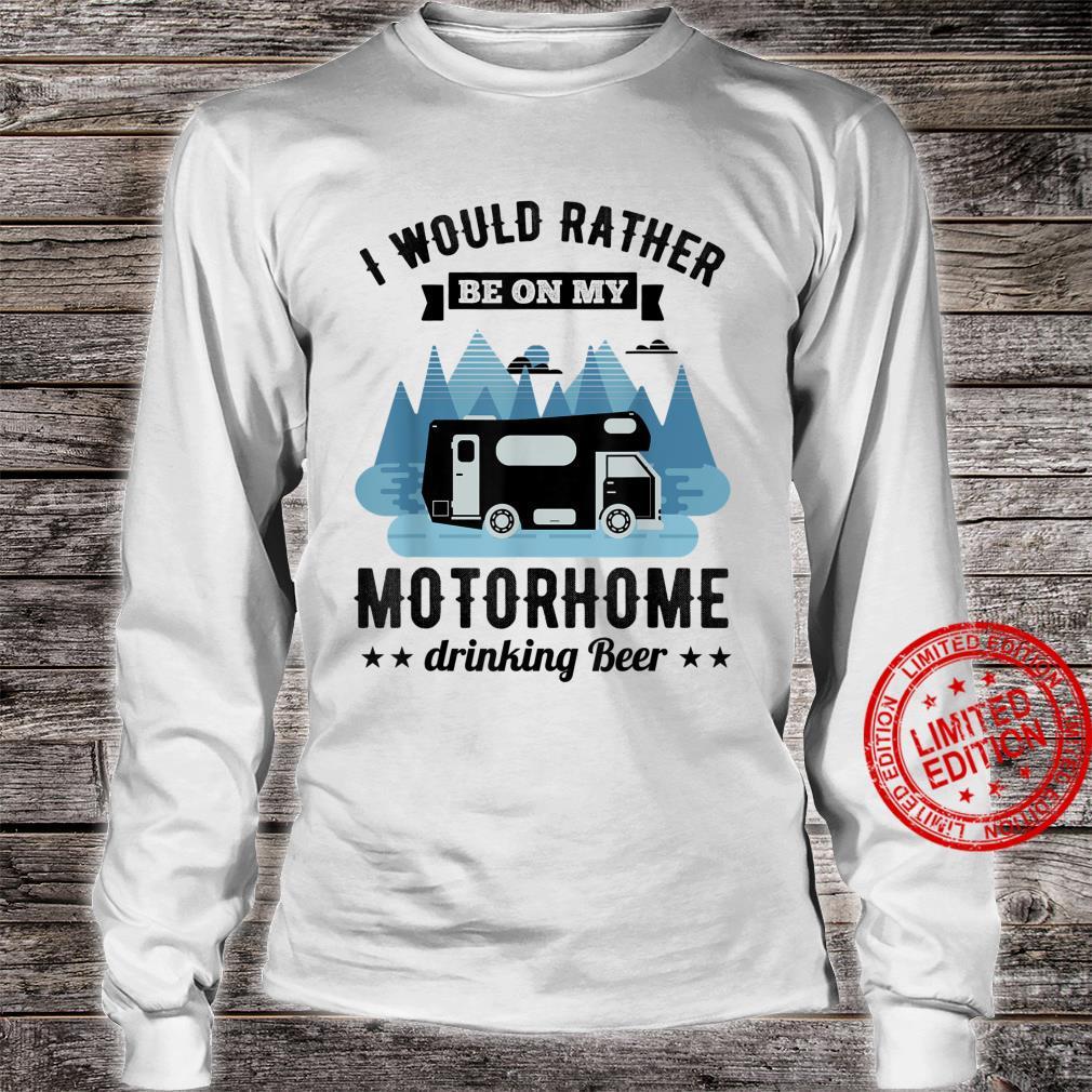 RV Motorhome Beer Husband Shirt long sleeved