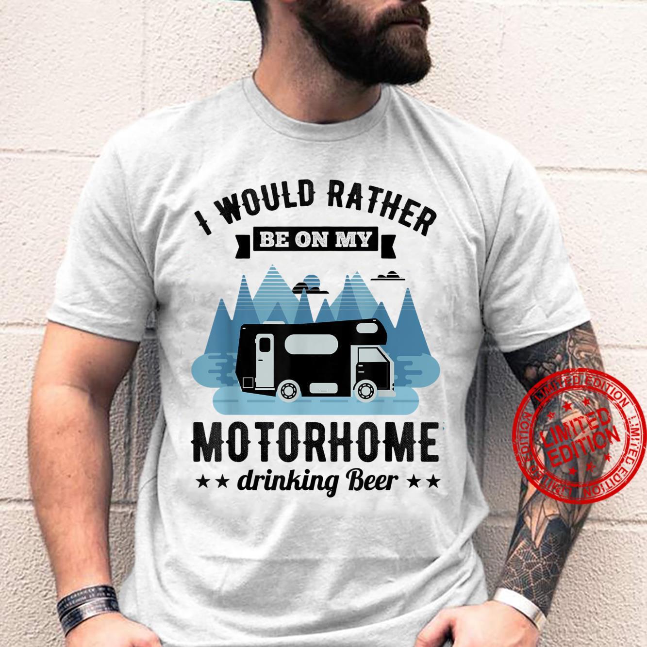 RV Motorhome Beer Husband Shirt