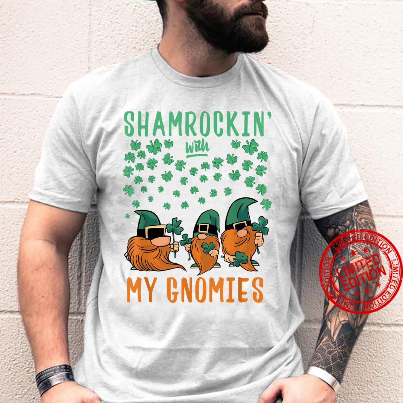 Shamrockin' With My Gnomies St Patrick's Day Gnomes Shirt