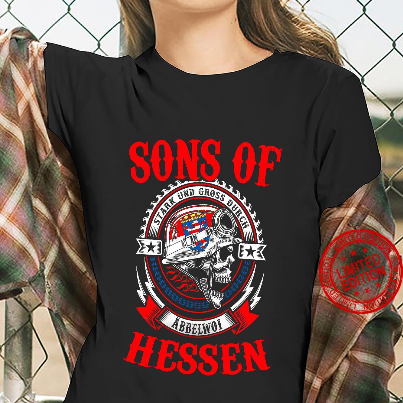 Sons Of Stark Und Gross Durch Abbelwoi Hessen Shirt ladies tee