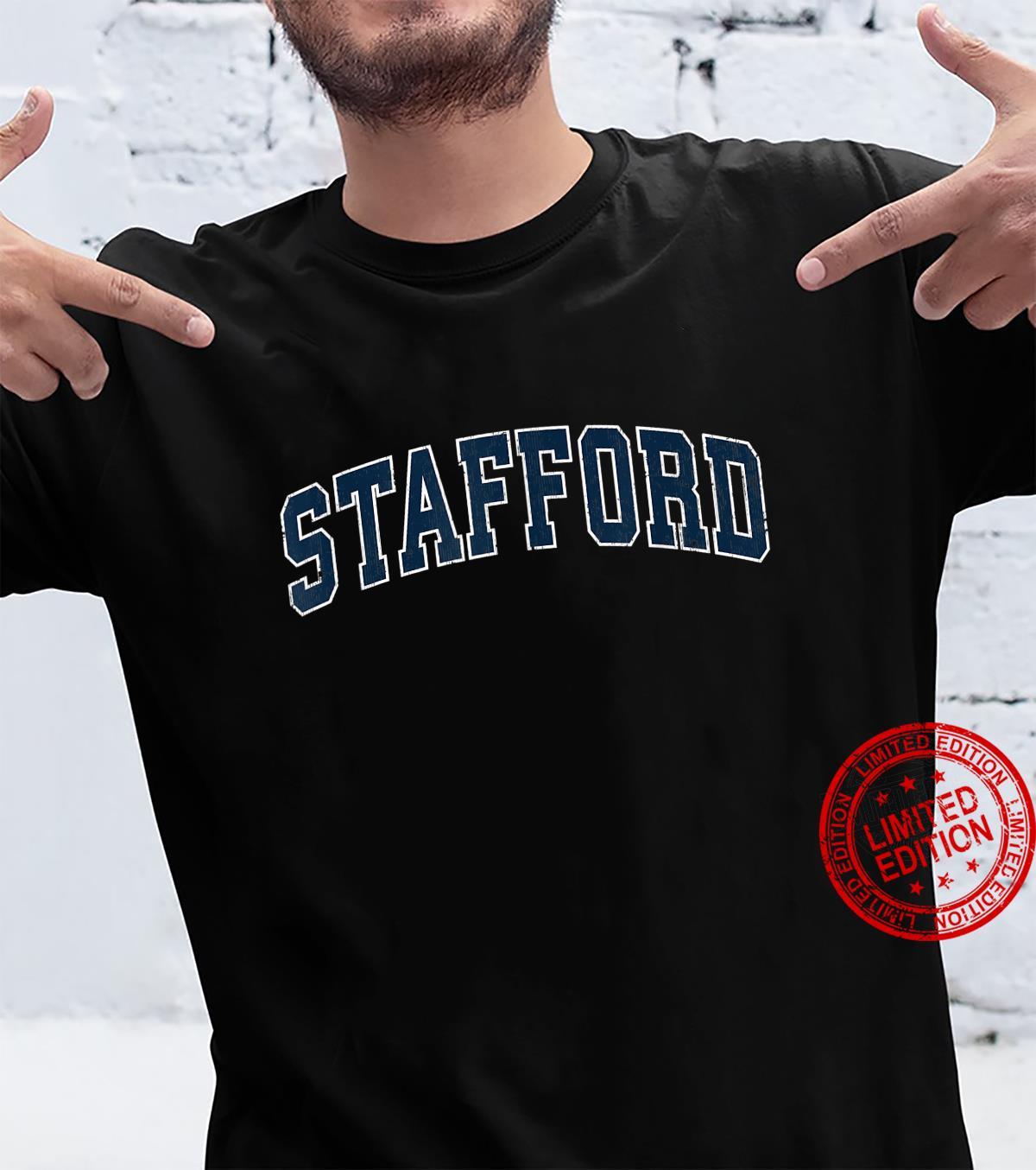Stafford New Jersey NJ Vintage Sports Design Navy Design Shirt