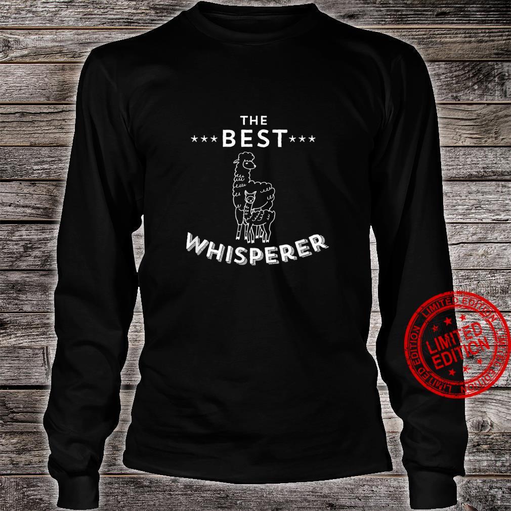The Best Llama Whisperer Llama Quote Design Shirt long sleeved