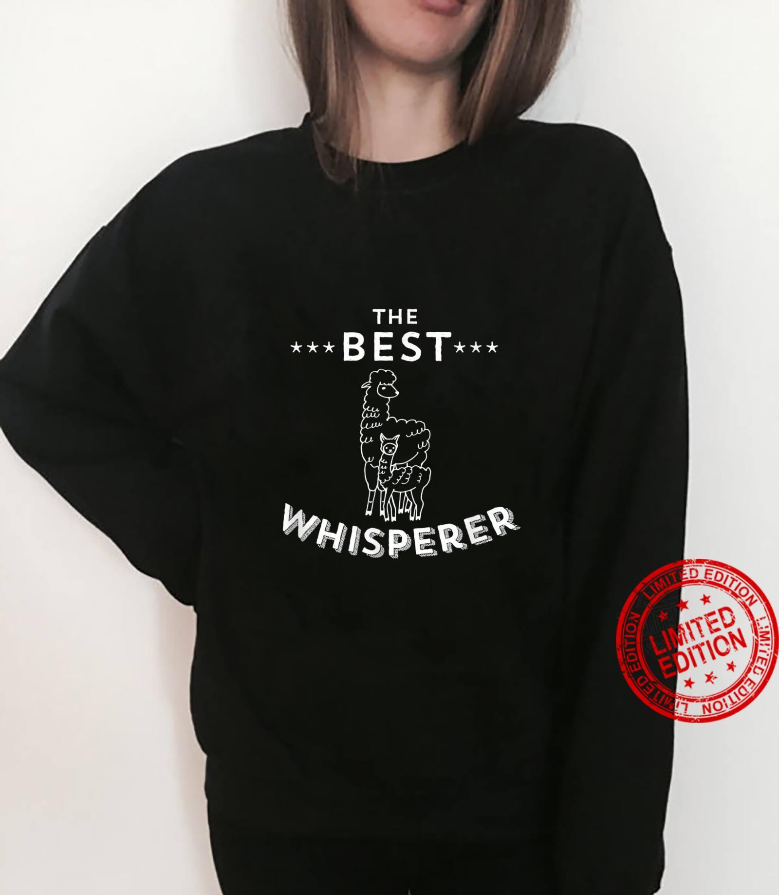 The Best Llama Whisperer Llama Quote Design Shirt sweater