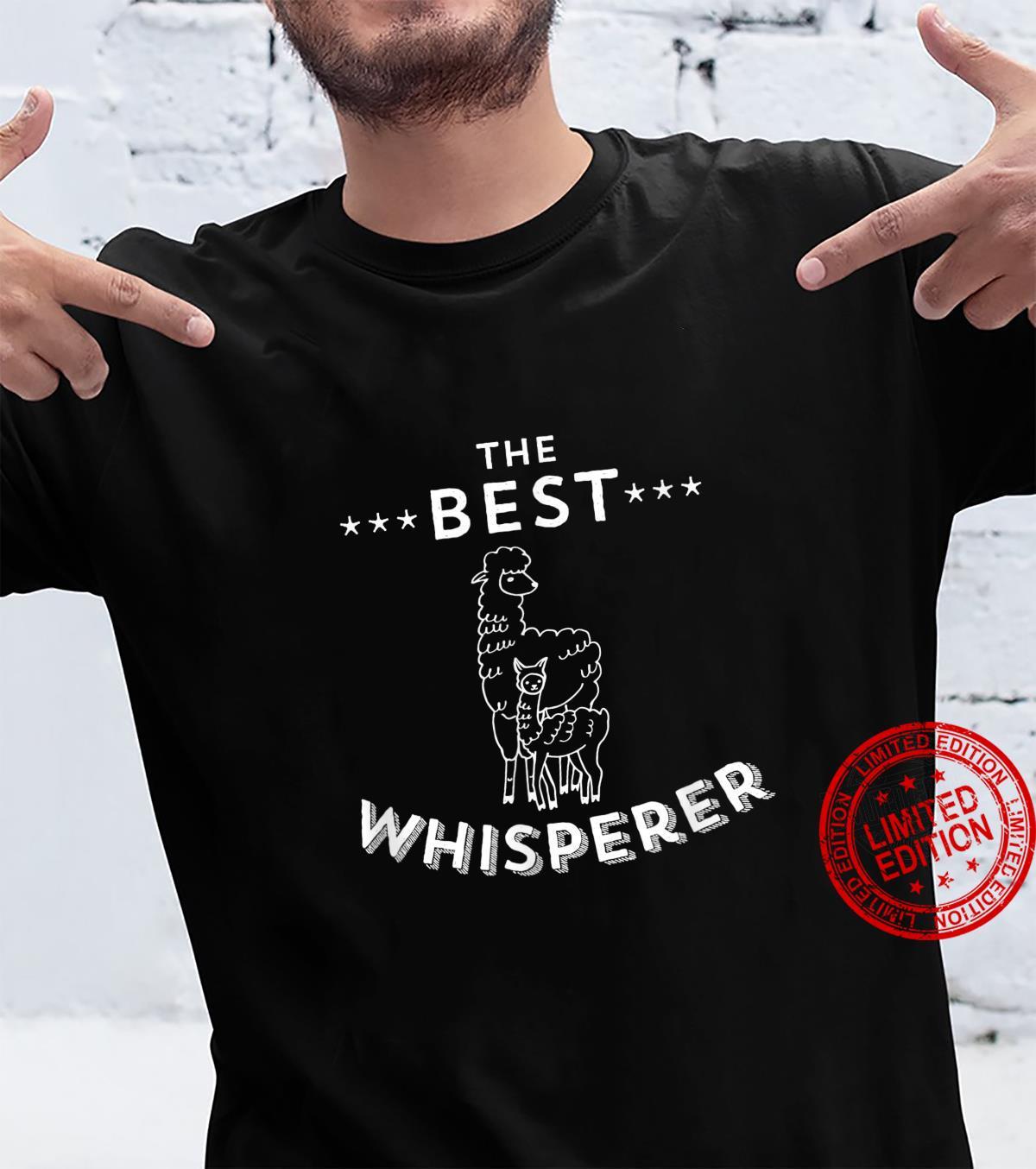 The Best Llama Whisperer Llama Quote Design Shirt