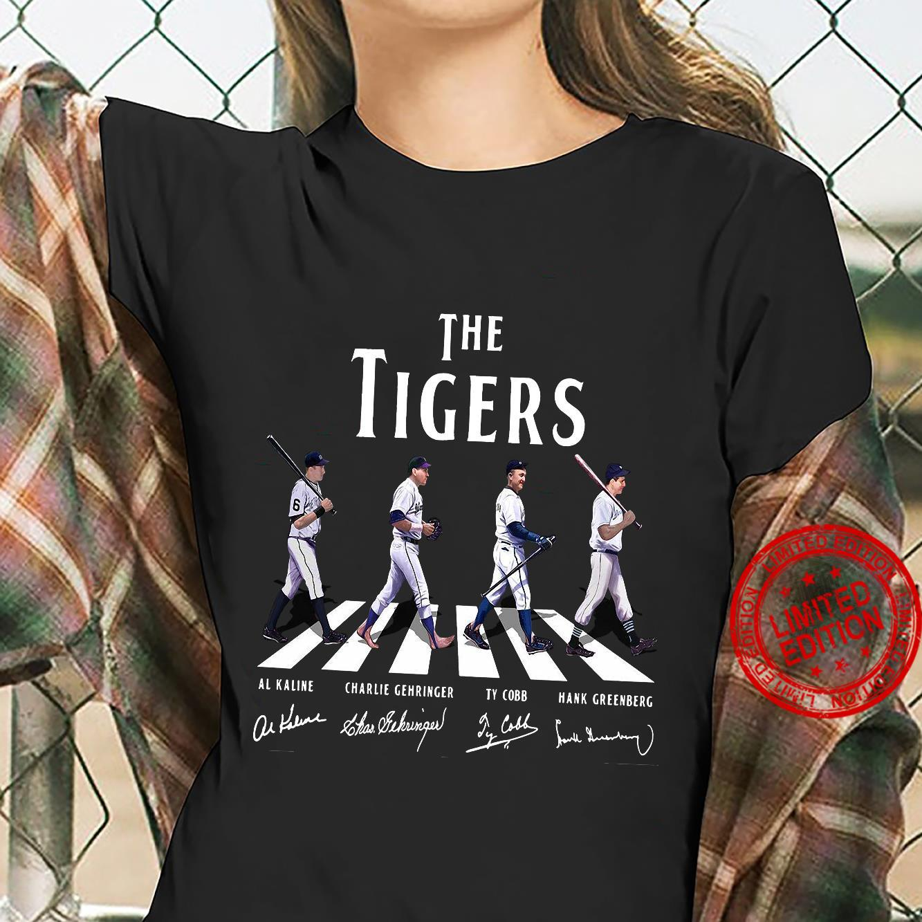 The Tigers Al Kaline Charlie Gehringer Ty Cobb Hank Greenberg Shirt ladies tee