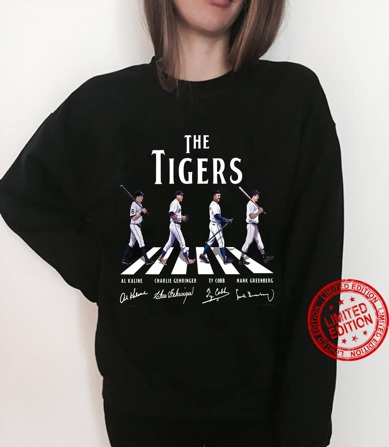 The Tigers Al Kaline Charlie Gehringer Ty Cobb Hank Greenberg Shirt sweater