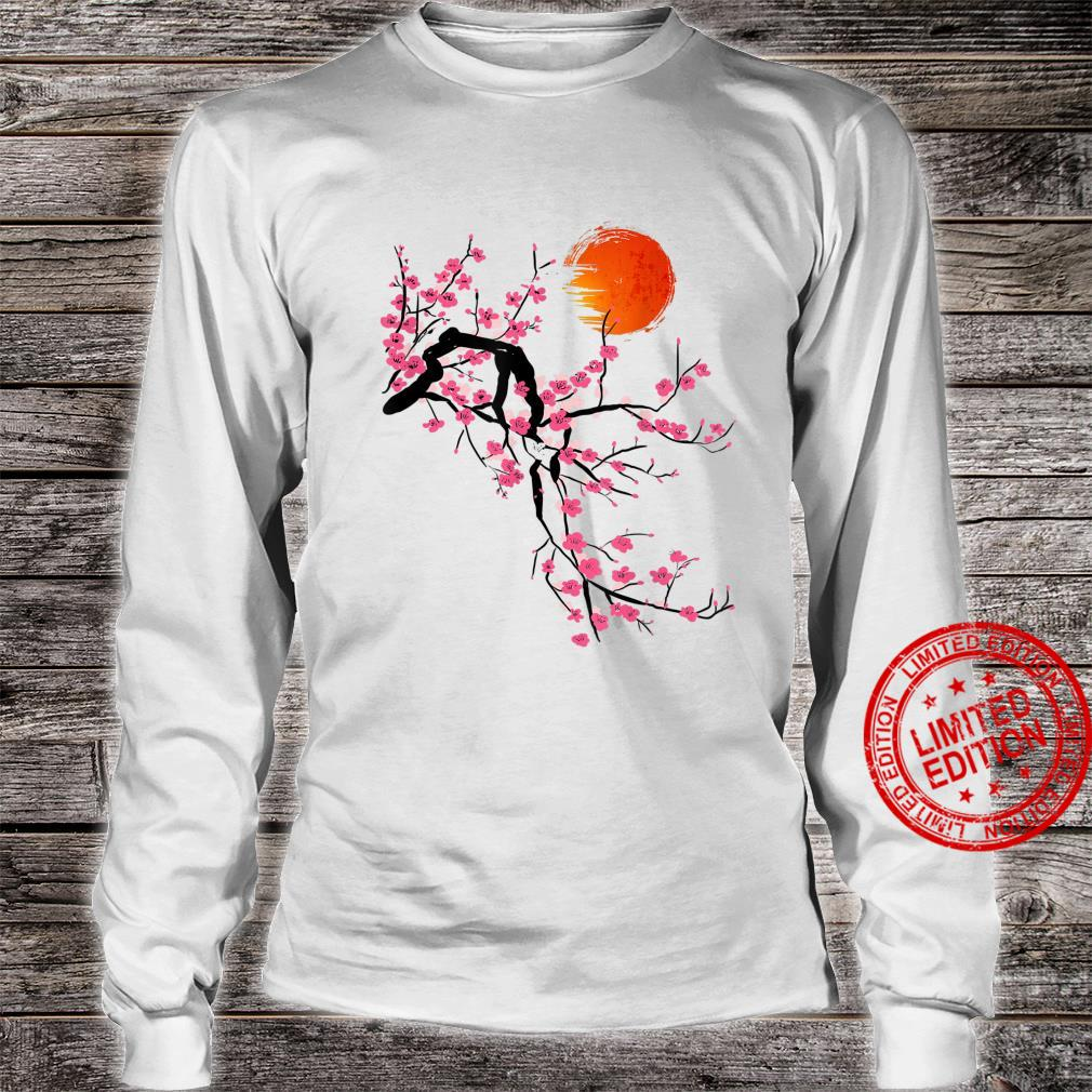 Vintage Sakura Cherry Blossom Tree Japanese Culture Shirt long sleeved