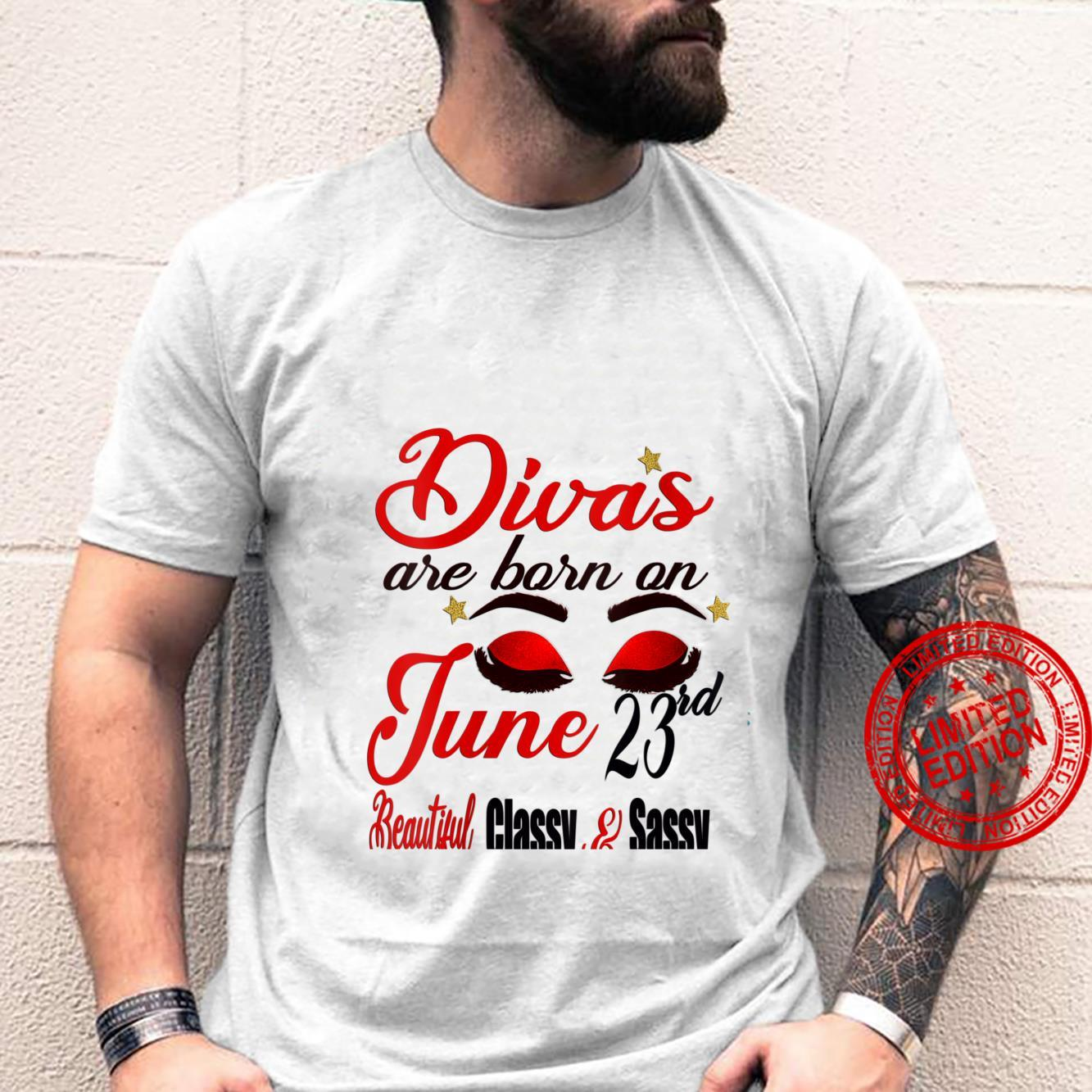 Womens Divas Are Born On June 23rd Cancer Girl Astrology June Shirt