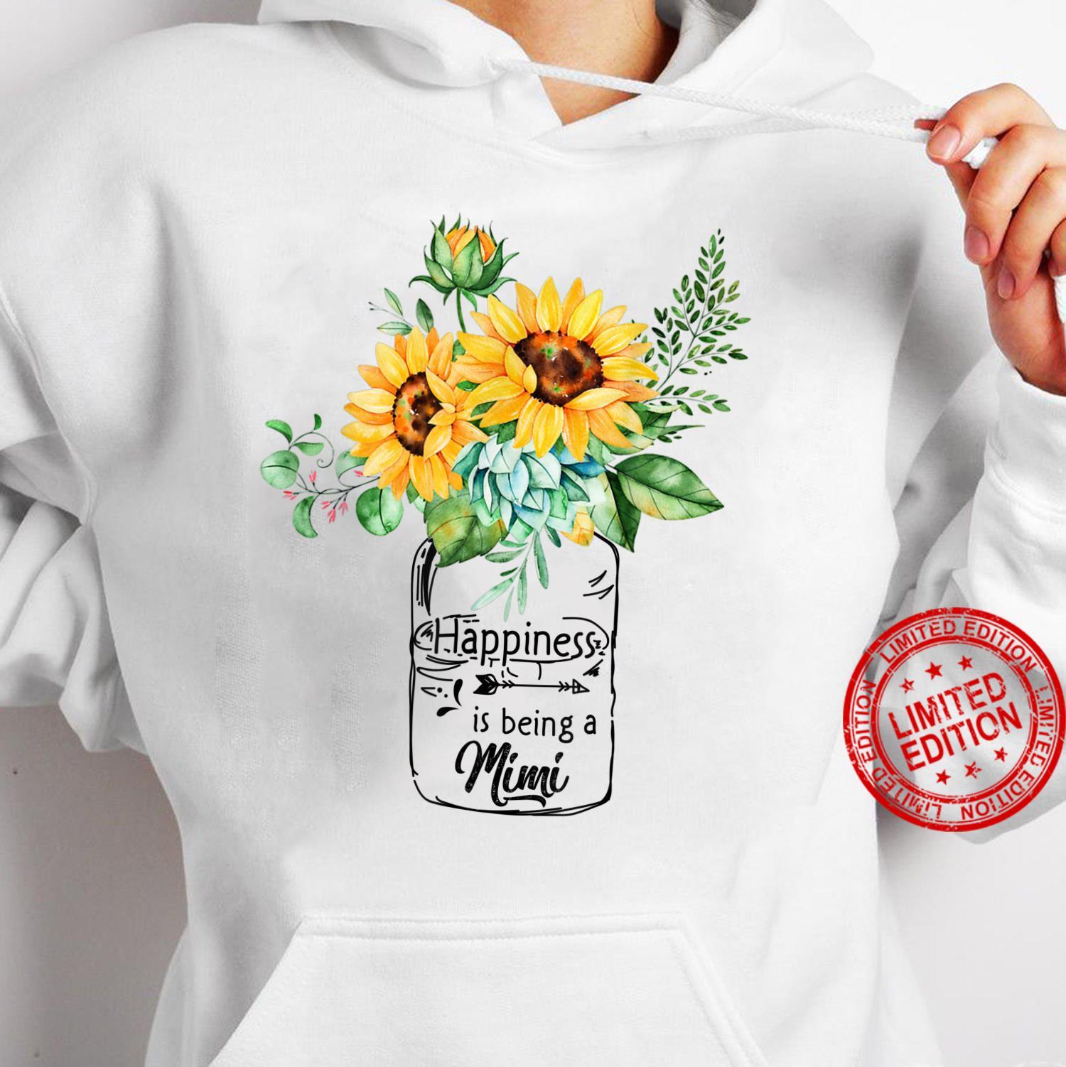 Womens Happiness is Being Mimi Life Sunflower Art Grandma Shirt hoodie
