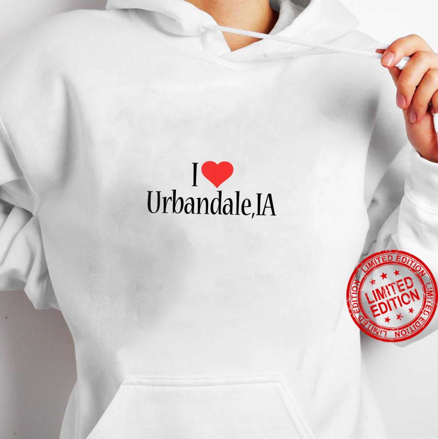 Womens I Love Urbandale IOWA Heart City State Combination Shirt hoodie