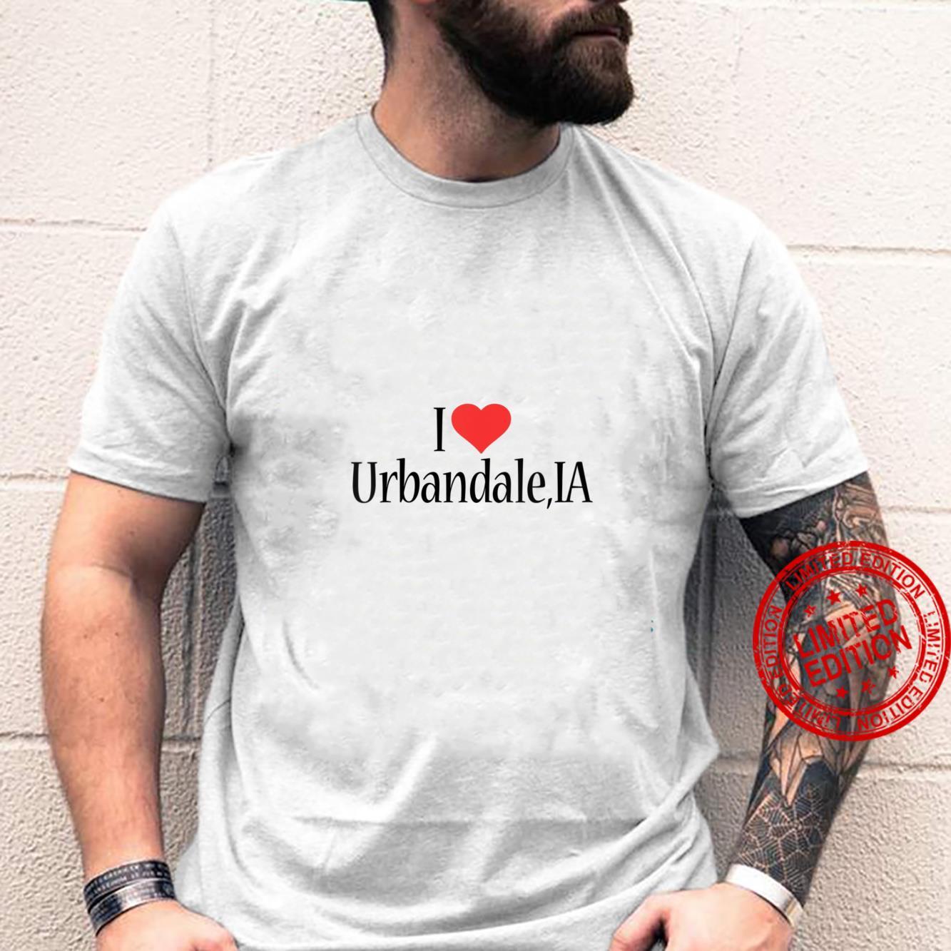 Womens I Love Urbandale IOWA Heart City State Combination Shirt