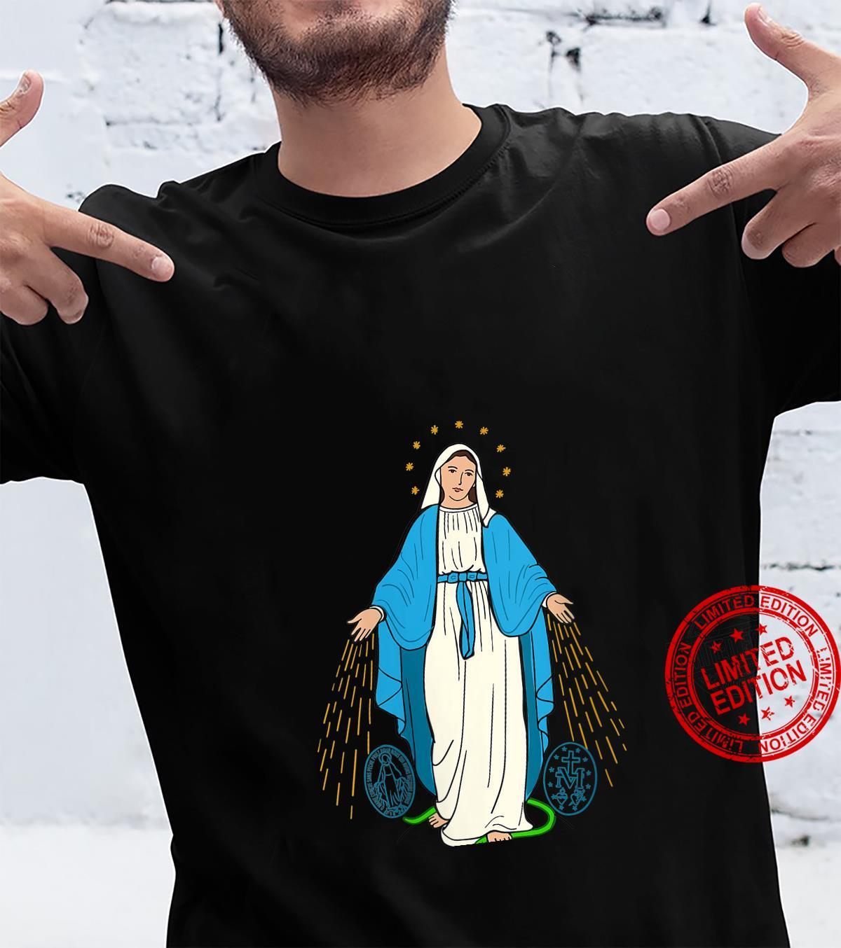 Womens Our Lady of Grace Virgen de la Medalla Milagrosa Shirt
