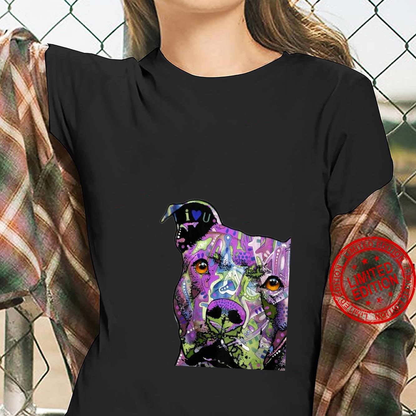 Womens PitBulls Colourful Pit Bulls Shirt ladies tee