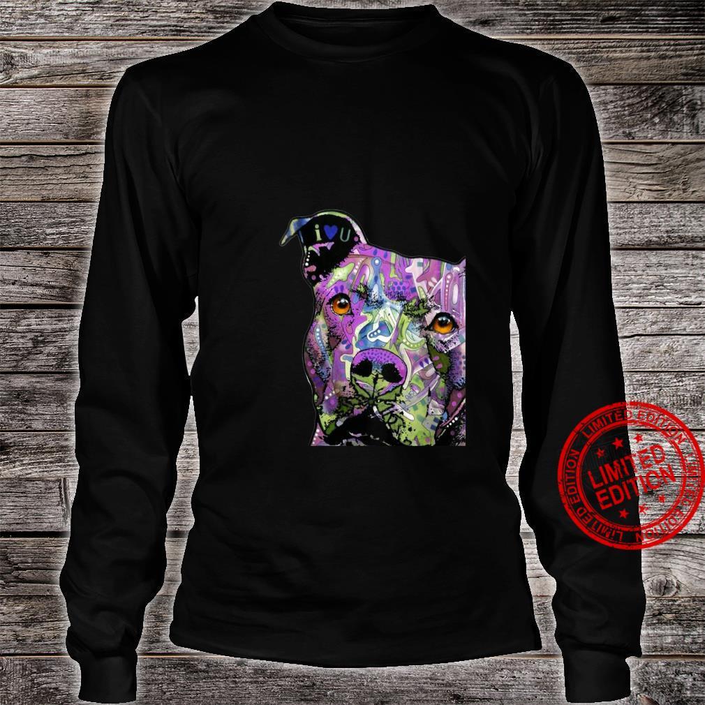 Womens PitBulls Colourful Pit Bulls Shirt long sleeved
