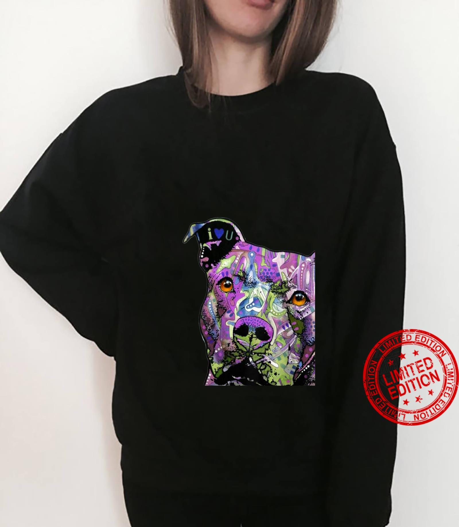 Womens PitBulls Colourful Pit Bulls Shirt sweater