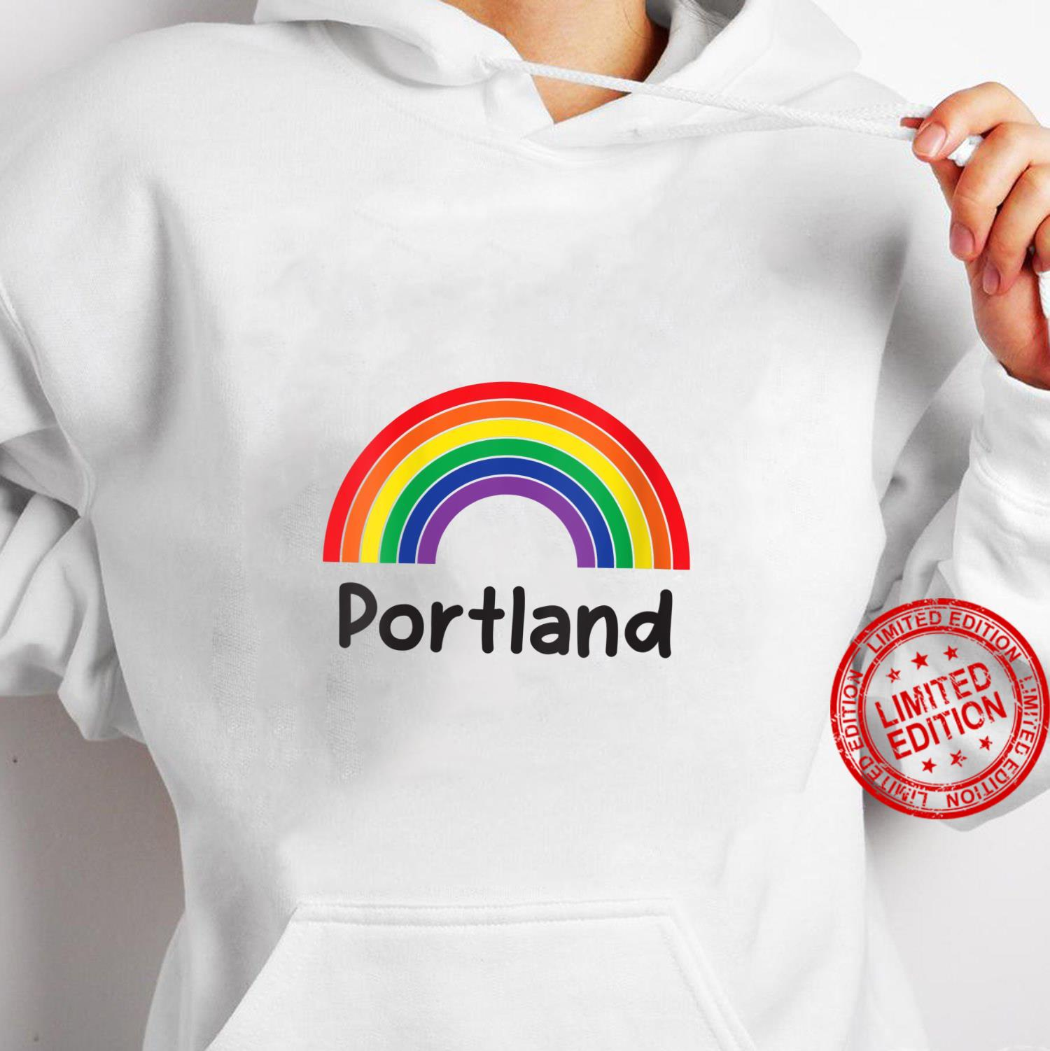 Womens Portland Pride, Retro LGBT Rainbow, Portland Rainbow Shirt hoodie