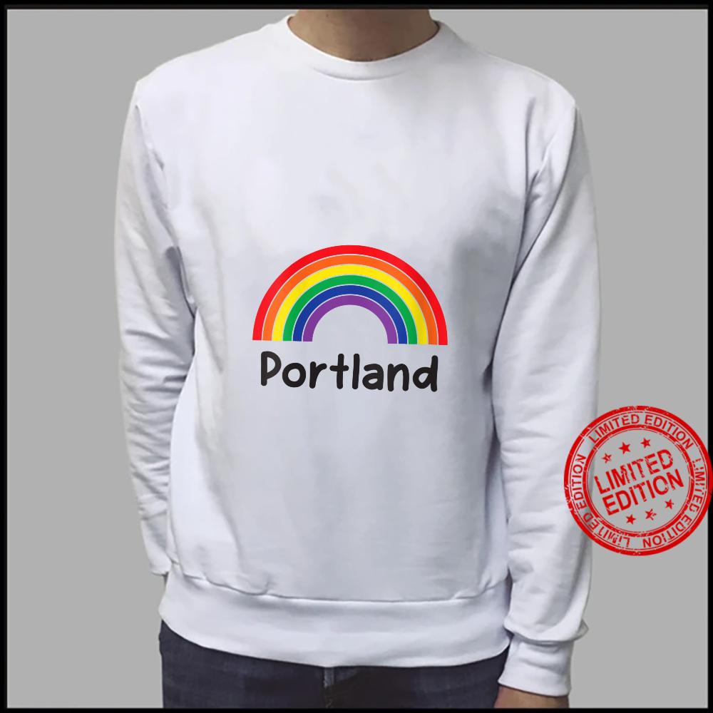 Womens Portland Pride, Retro LGBT Rainbow, Portland Rainbow Shirt sweater