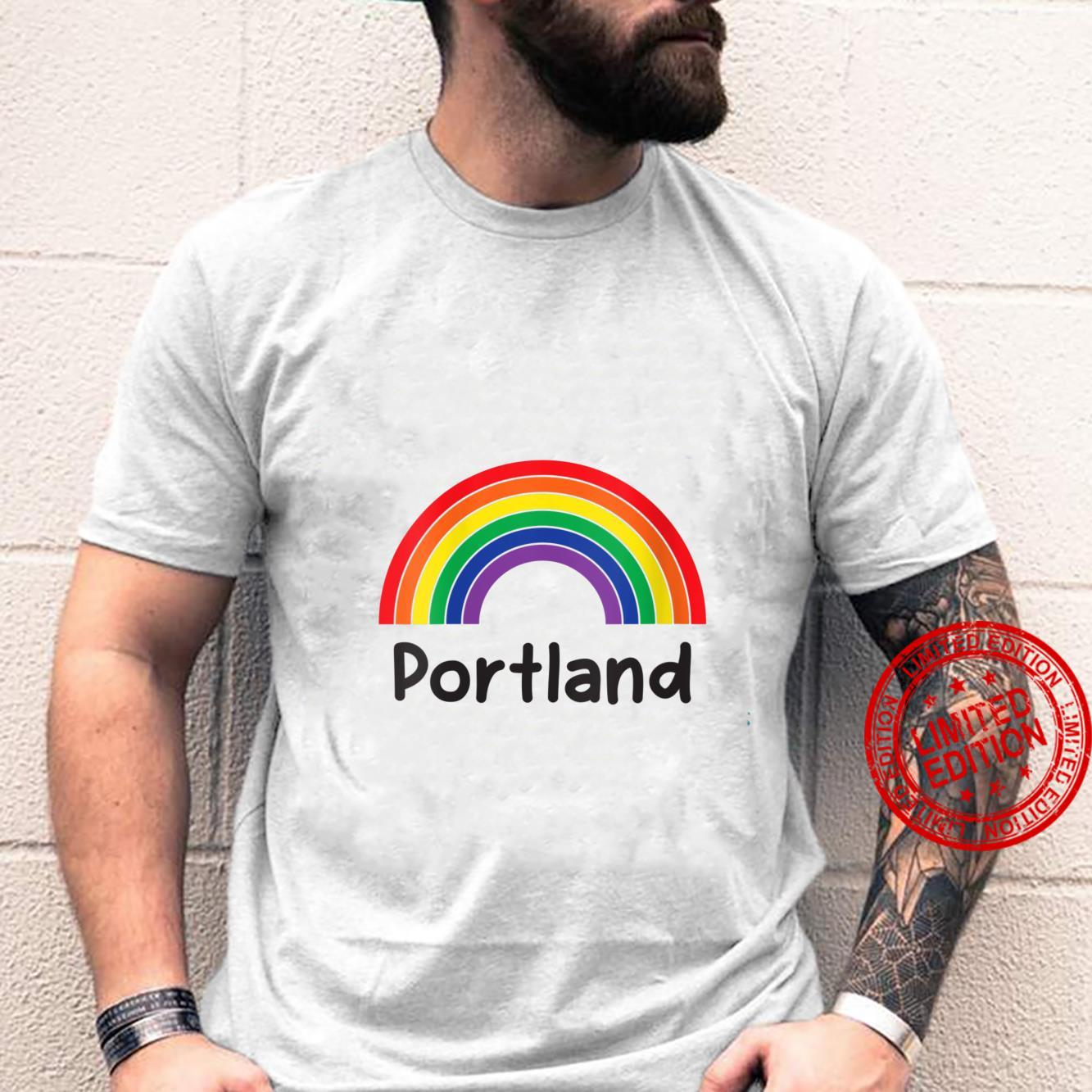 Womens Portland Pride, Retro LGBT Rainbow, Portland Rainbow Shirt