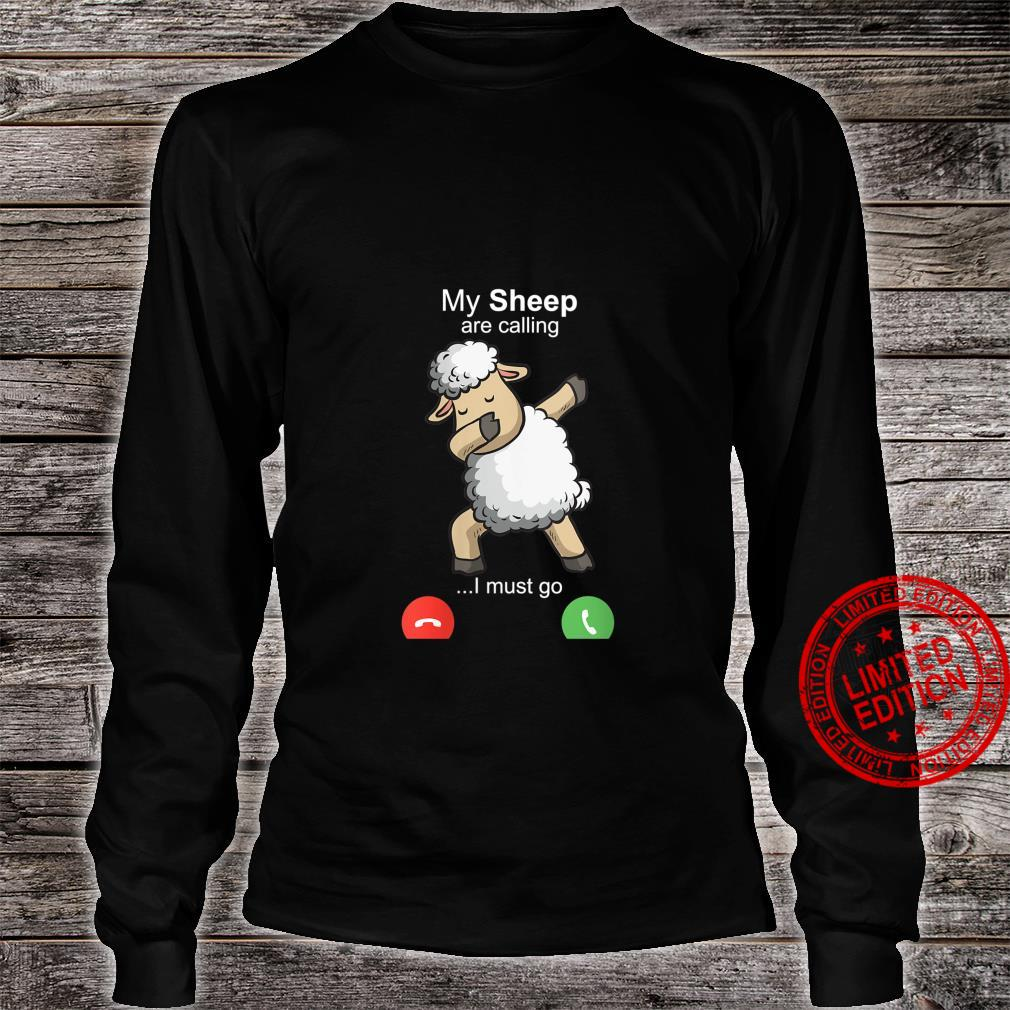 Womens Sheep Art Sheepherders Farmer Wool Costume Motive Shirt long sleeved