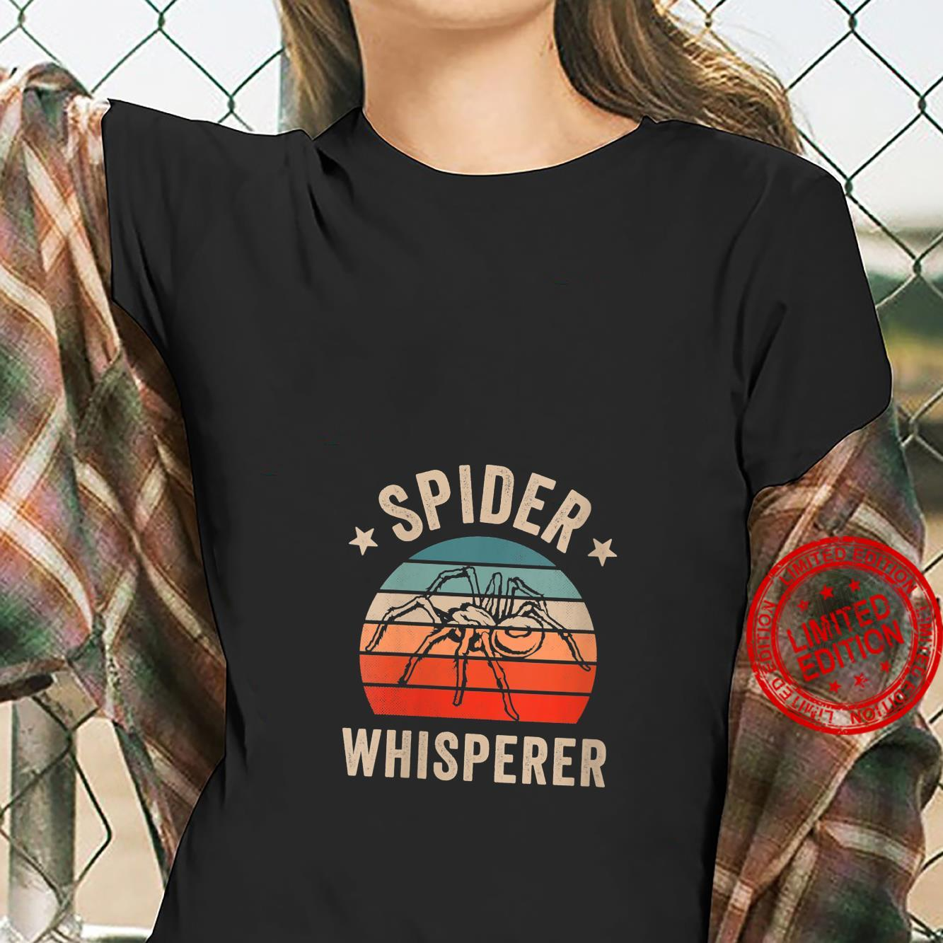 Womens Spider Whisperer Clothing Halloween Retro Vintage Shirt ladies tee