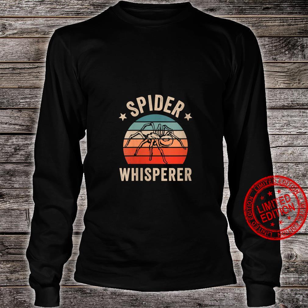 Womens Spider Whisperer Clothing Halloween Retro Vintage Shirt long sleeved