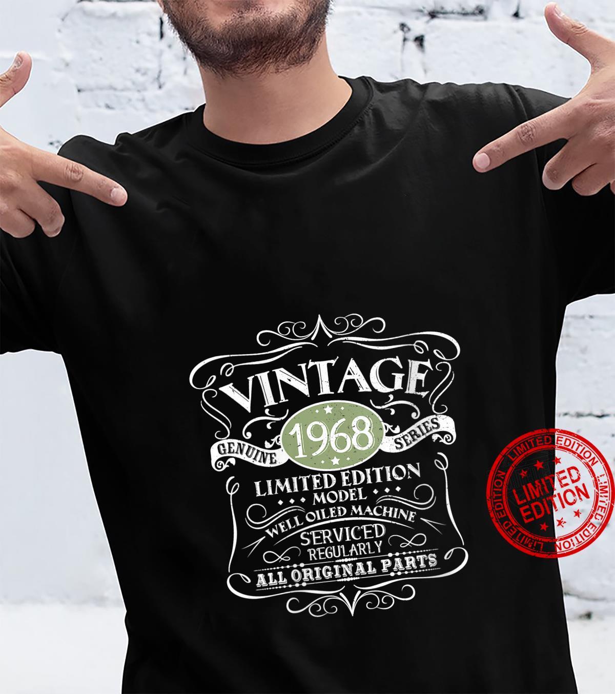 Womens Vintage 1968 53rd Birthday Original Design Shirt