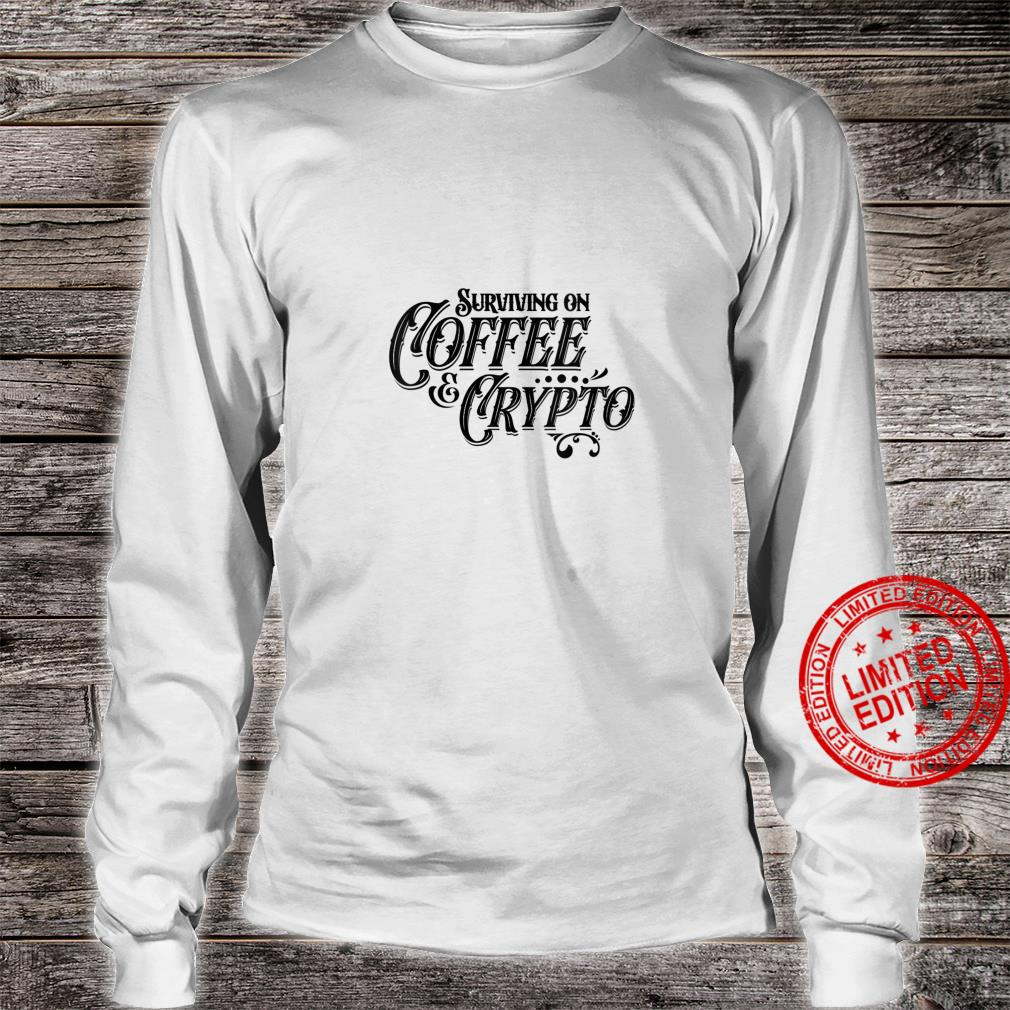 Womens Vintage Cryptography Stock Trader Crypto Addict Coffee Shirt long sleeved