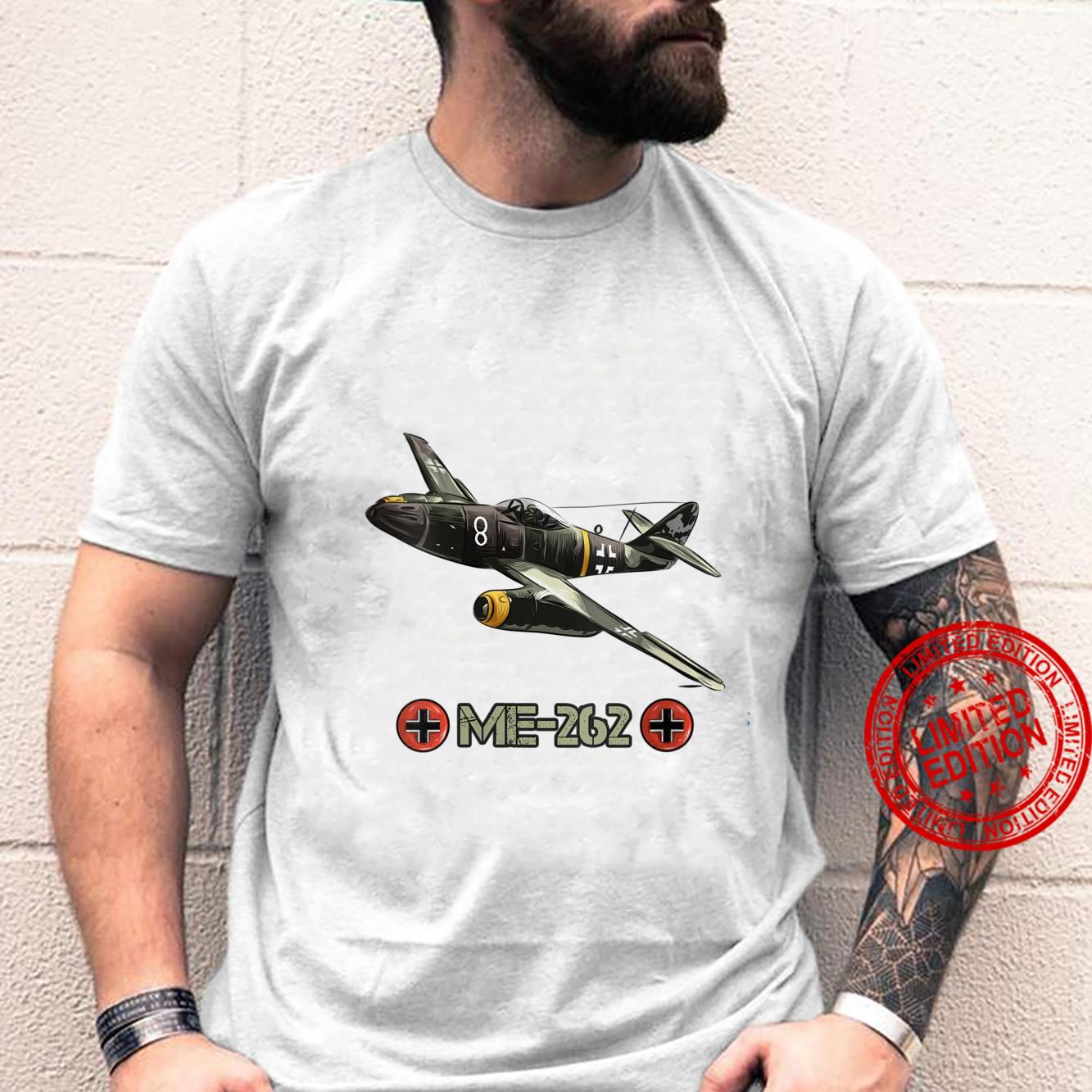 Womens World War 2 German Aircraft ME 262 Fighter Jet Memorabilia Shirt
