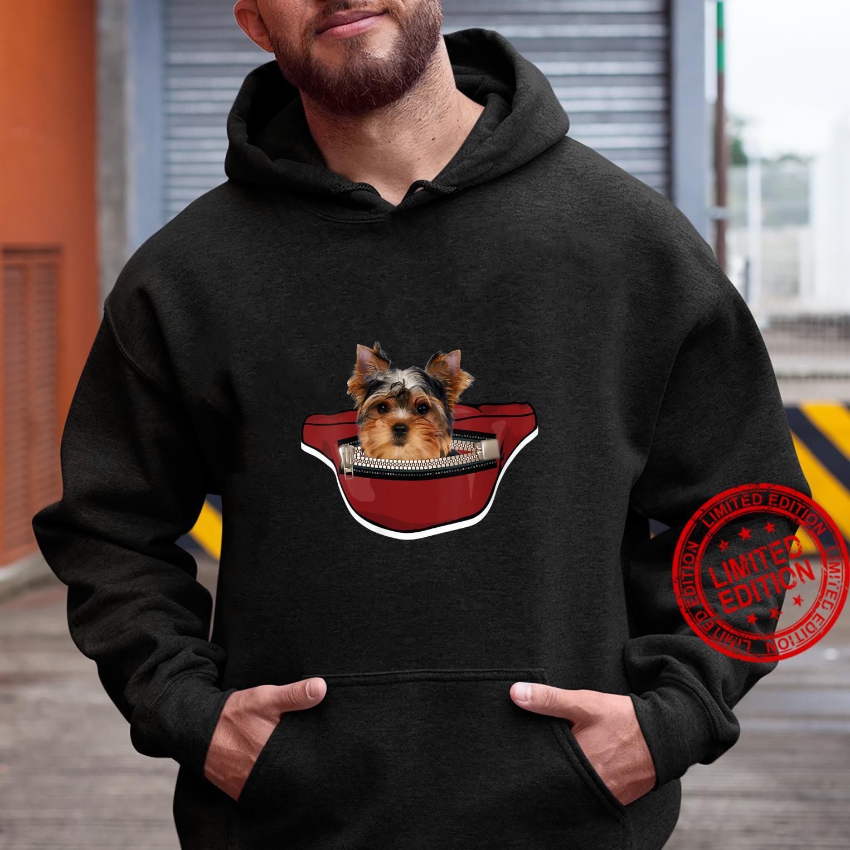 Womens Yorkshire Dog Mini Dog Pocket Design Yorkie Shirt hoodie