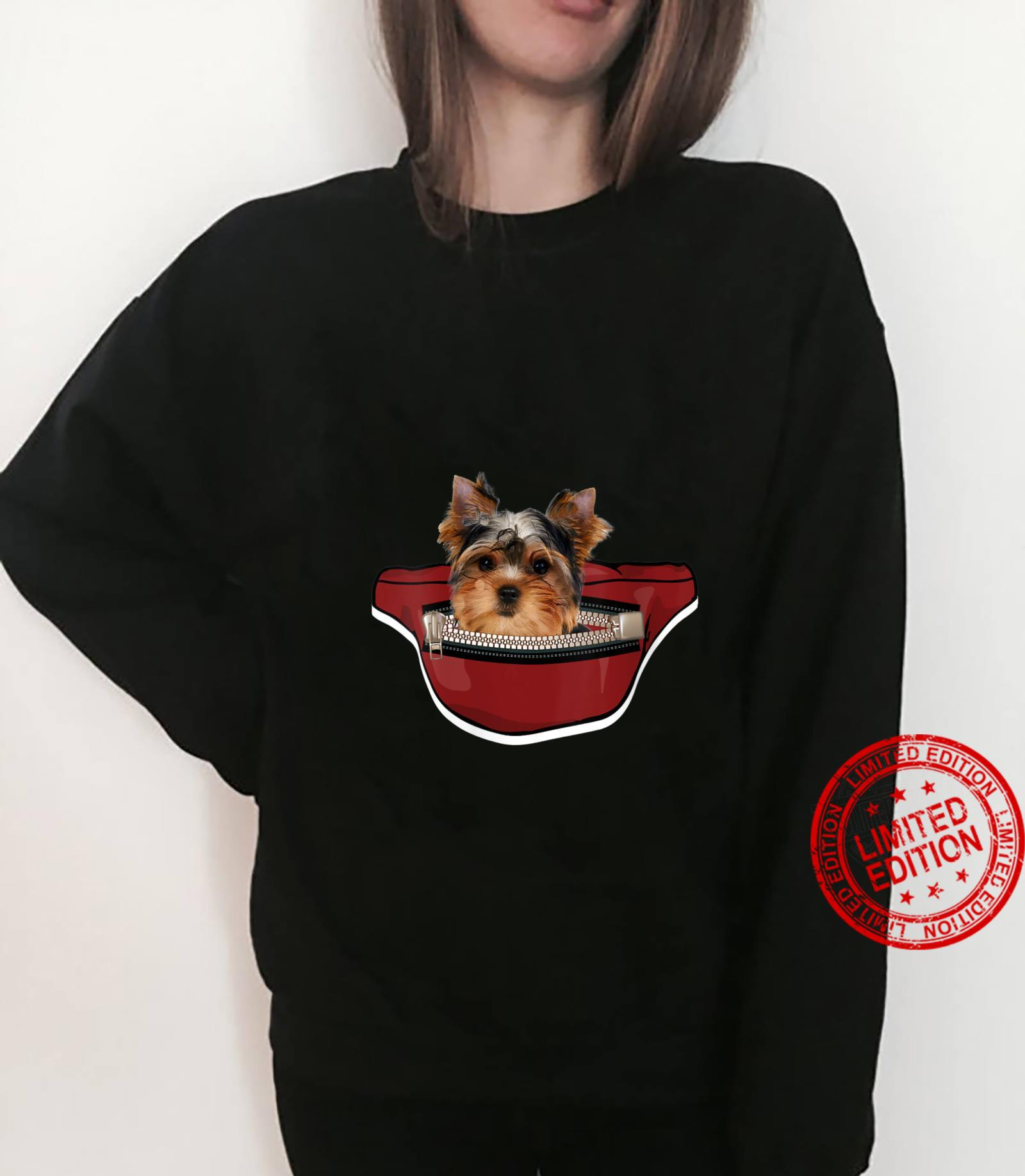 Womens Yorkshire Dog Mini Dog Pocket Design Yorkie Shirt sweater
