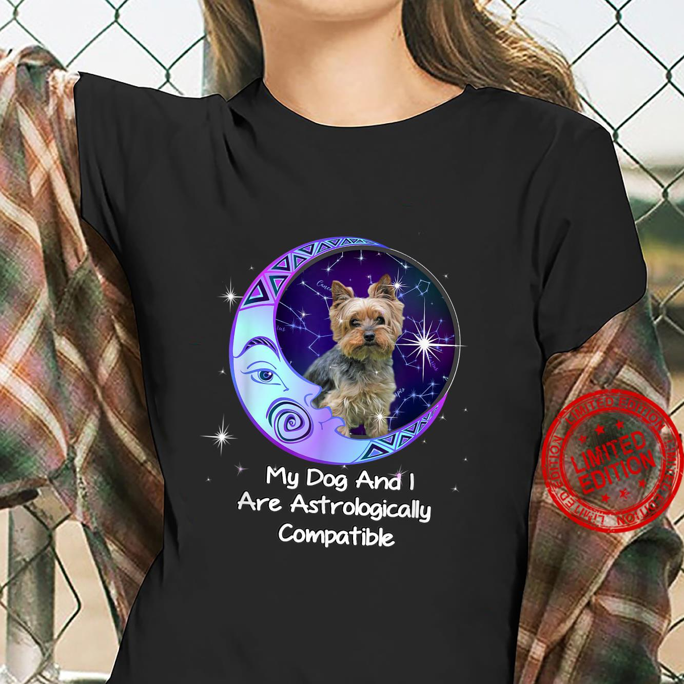 Yorkie Puppy Yorkshire Terrier Owners Astrological Zodiac Shirt ladies tee